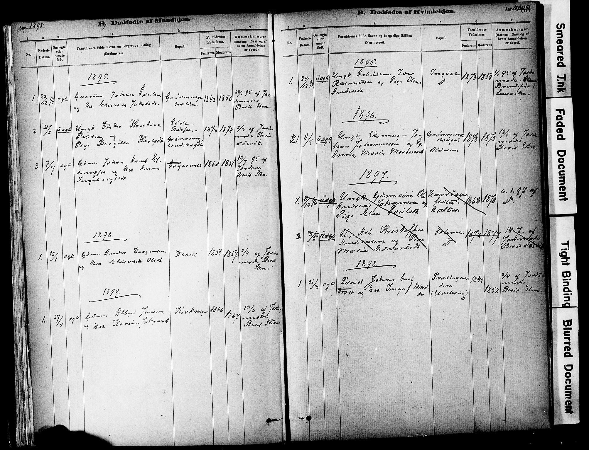 SAT, Ministerialprotokoller, klokkerbøker og fødselsregistre - Sør-Trøndelag, 646/L0615: Ministerialbok nr. 646A13, 1885-1900, s. 68