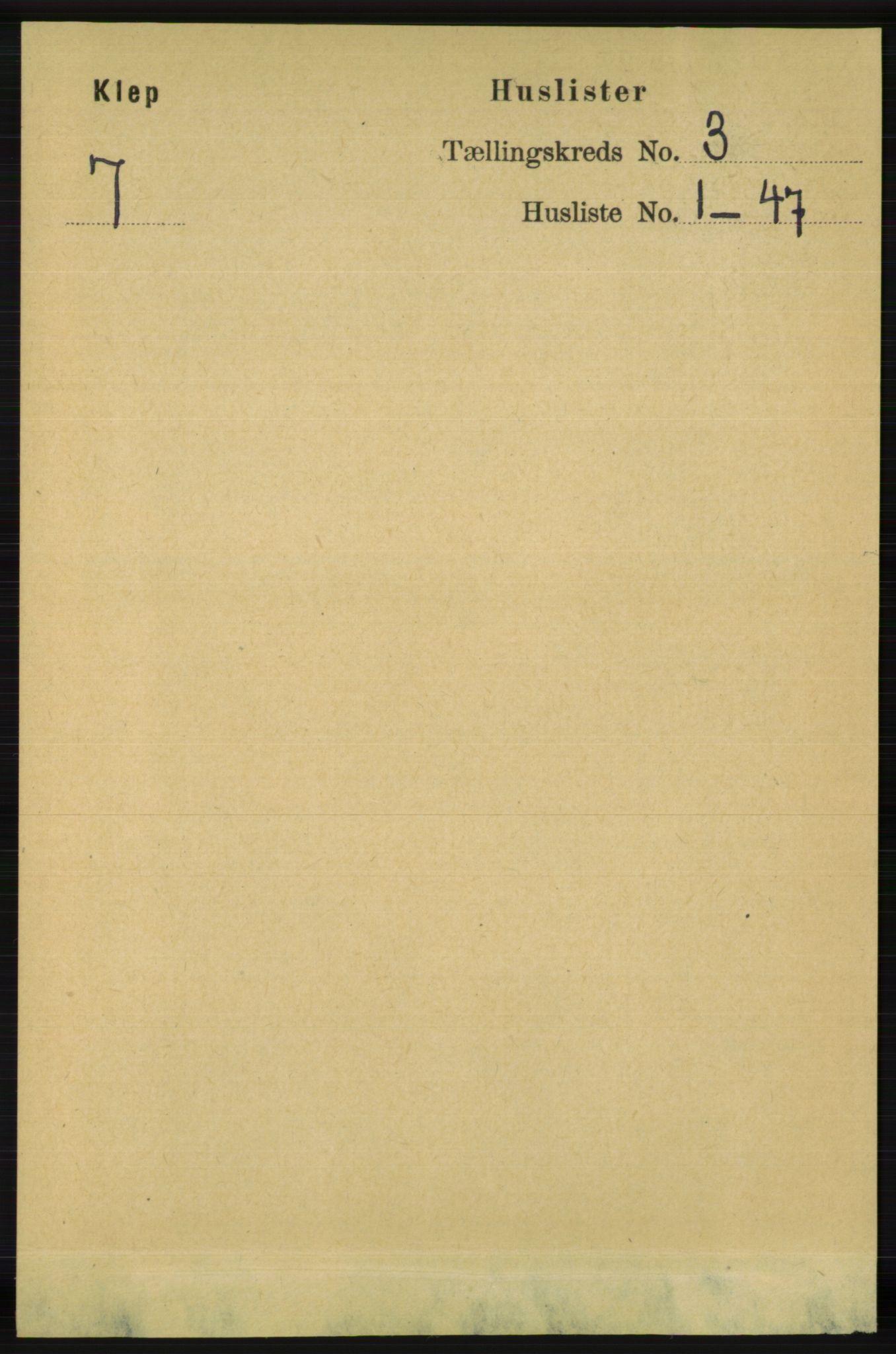 RA, Folketelling 1891 for 1120 Klepp herred, 1891, s. 590