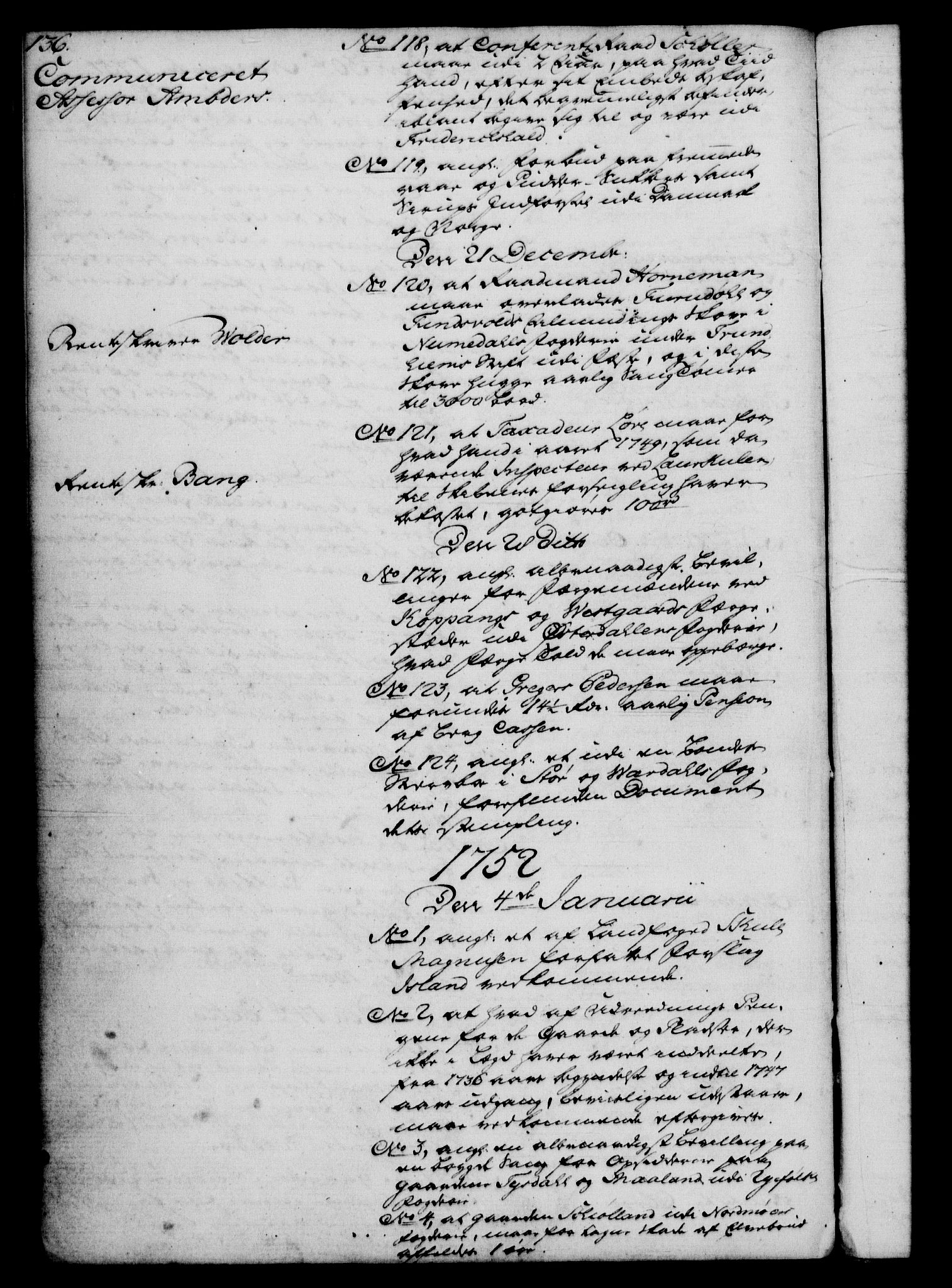 RA, Rentekammeret, Kammerkanselliet, G/Gf/Gfb/L0005: Register til norske relasjons- og resolusjonsprotokoller (merket RK 52.100), 1744-1754, s. 136