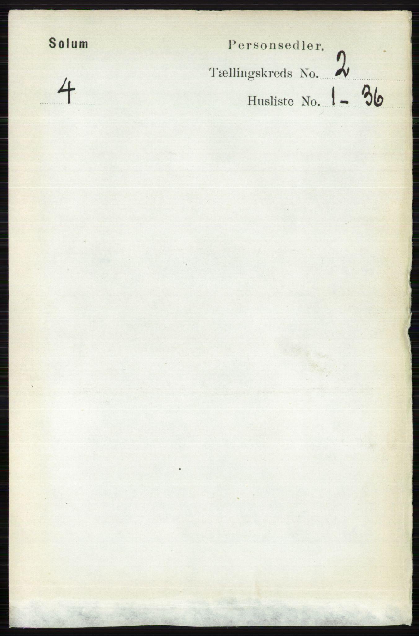 RA, Folketelling 1891 for 0818 Solum herred, 1891, s. 116
