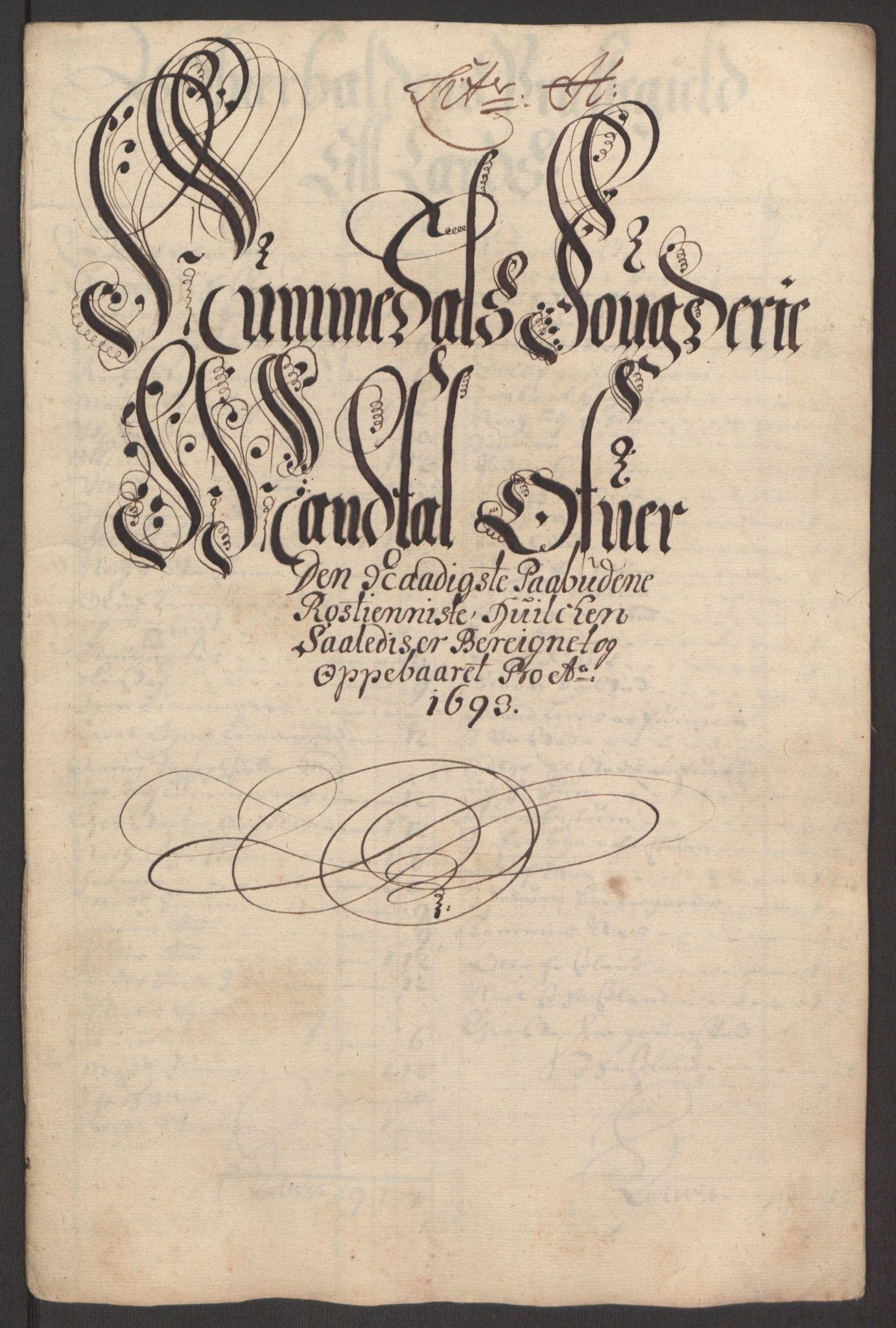 RA, Rentekammeret inntil 1814, Reviderte regnskaper, Fogderegnskap, R64/L4424: Fogderegnskap Namdal, 1692-1695, s. 278
