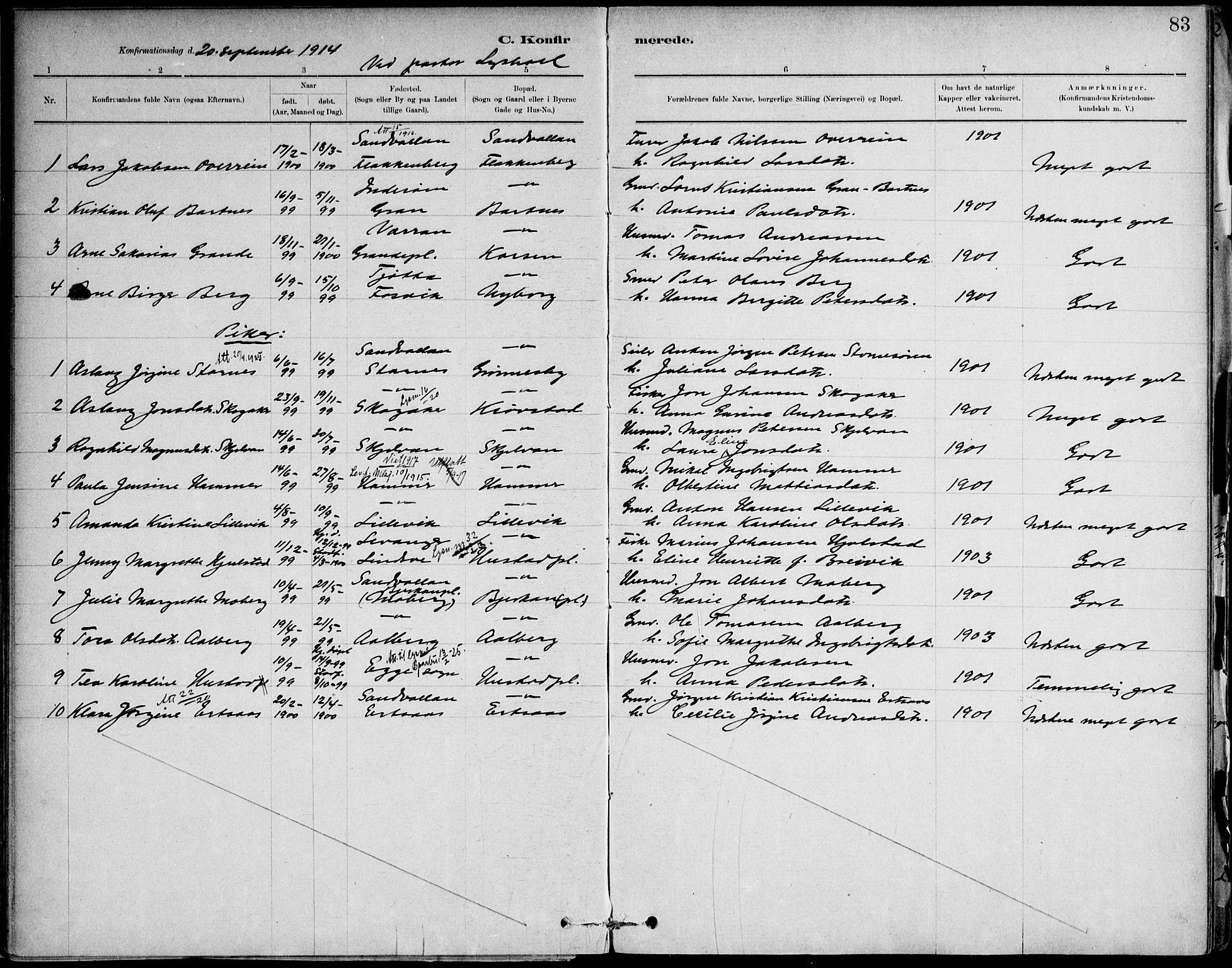 SAT, Ministerialprotokoller, klokkerbøker og fødselsregistre - Nord-Trøndelag, 732/L0316: Ministerialbok nr. 732A01, 1879-1921, s. 83
