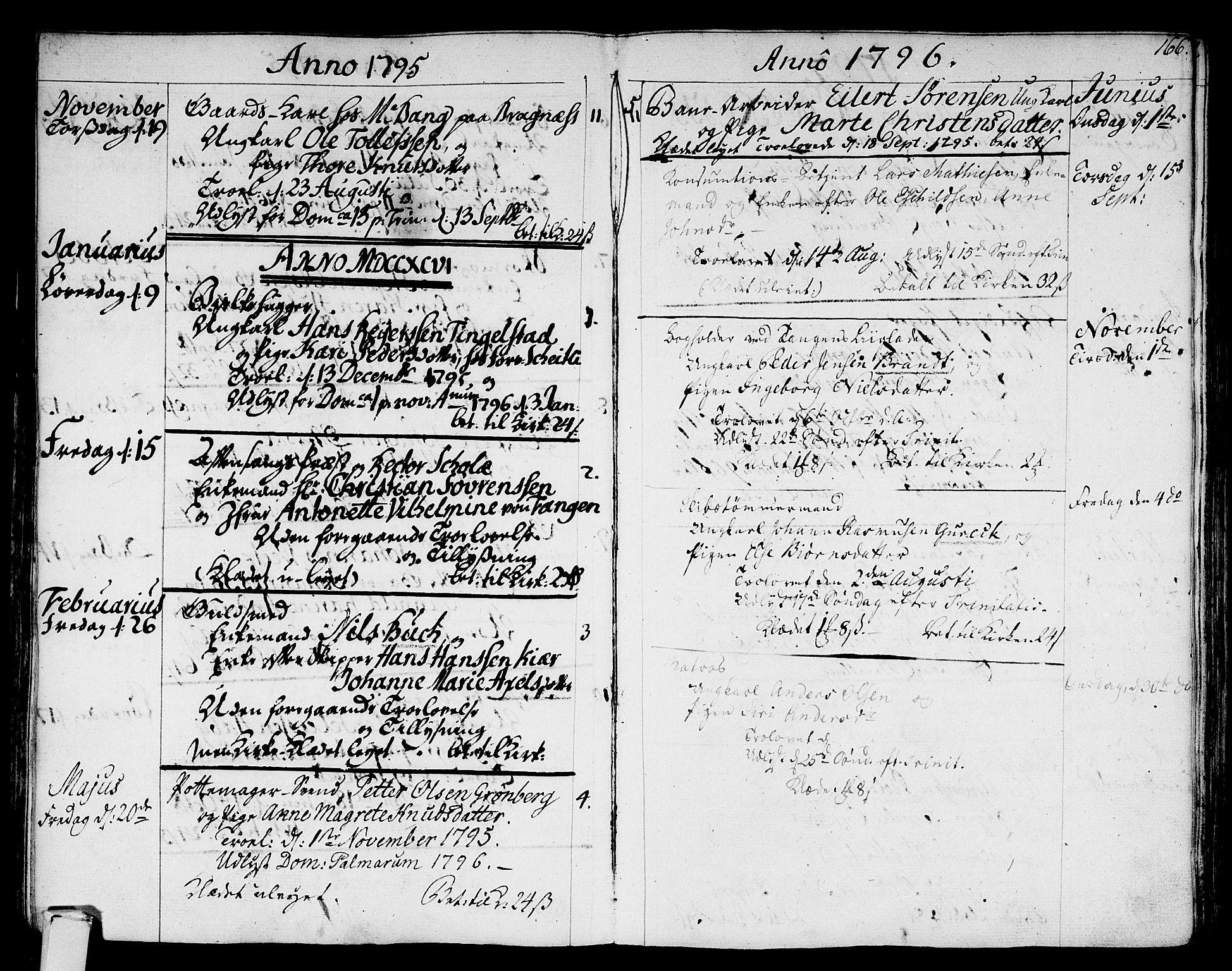 SAKO, Strømsø kirkebøker, F/Fa/L0010: Ministerialbok nr. I 10, 1792-1822, s. 166