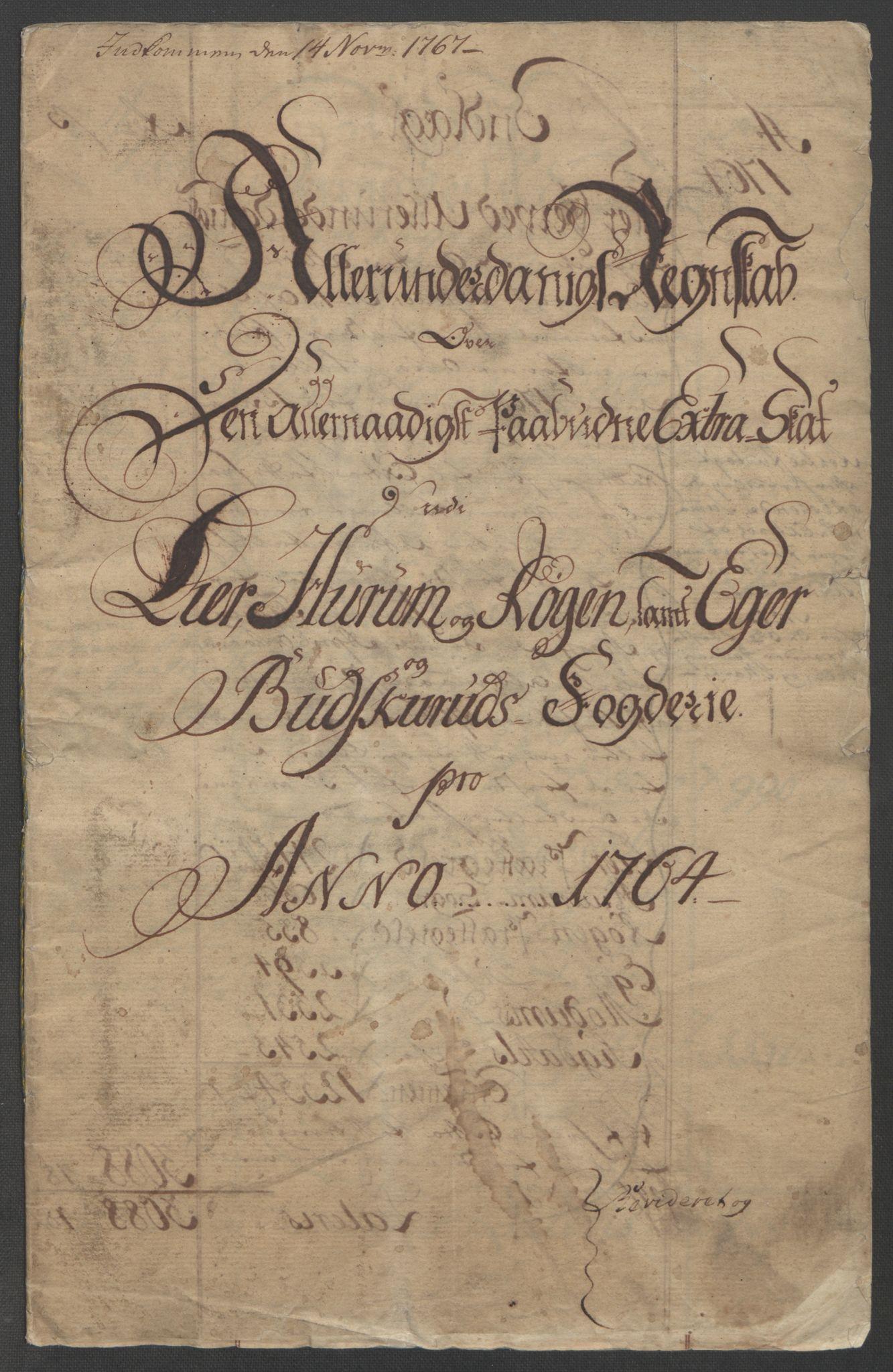 RA, Rentekammeret inntil 1814, Reviderte regnskaper, Fogderegnskap, R31/L1833: Ekstraskatten Hurum, Røyken, Eiker, Lier og Buskerud, 1762-1764, s. 148