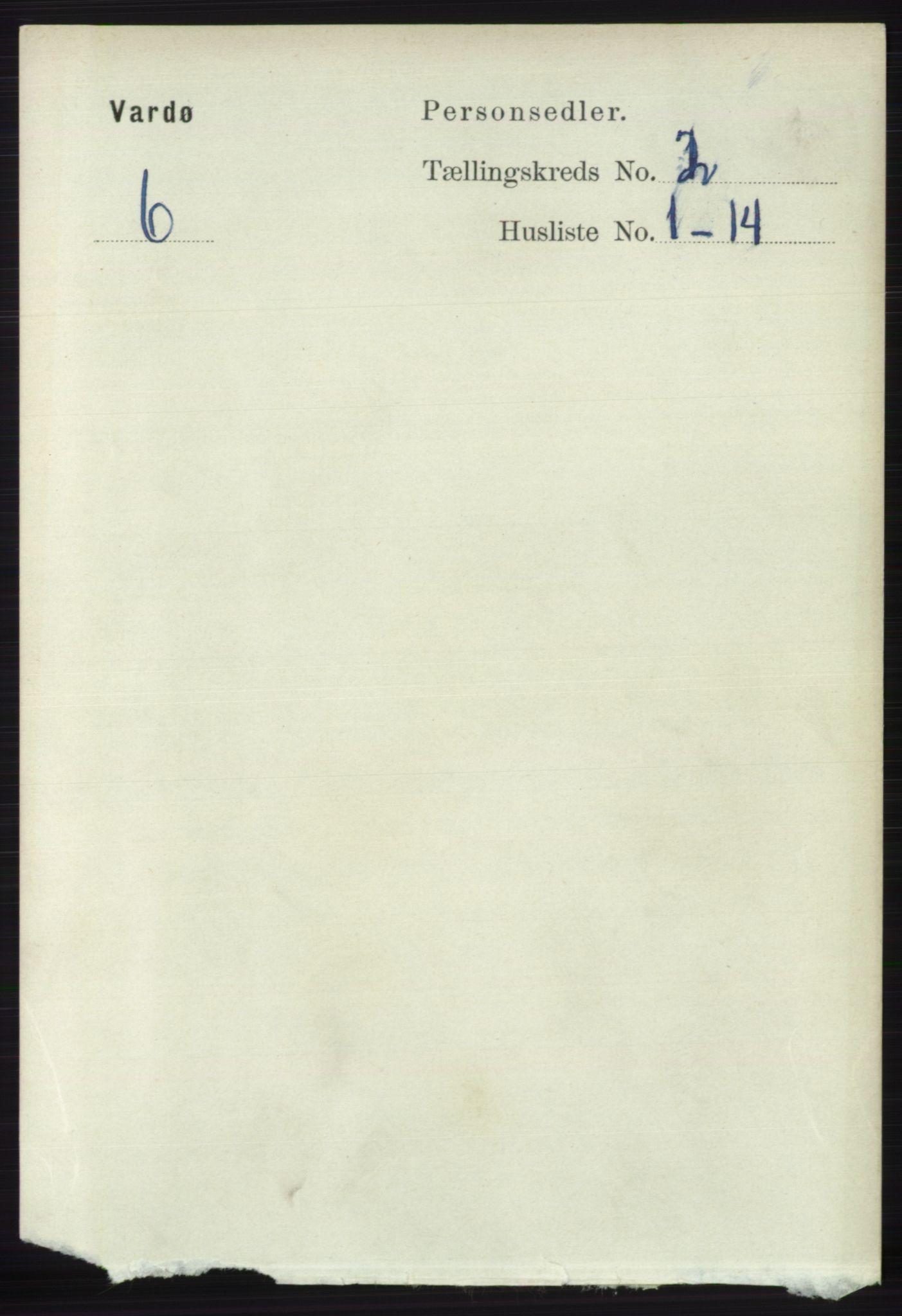 RA, Folketelling 1891 for 2002 Vardø kjøpstad, 1891, s. 1076