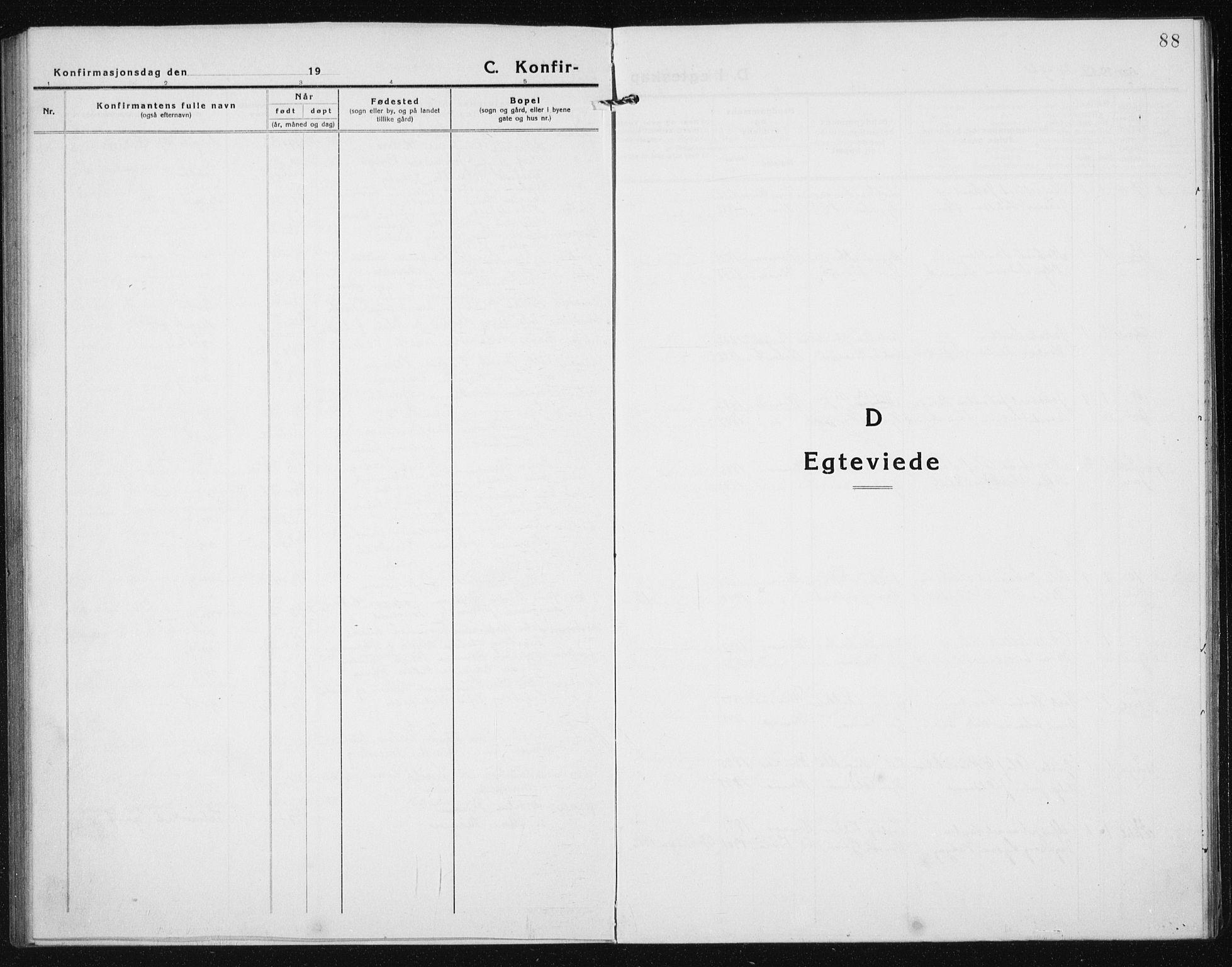 SAT, Ministerialprotokoller, klokkerbøker og fødselsregistre - Sør-Trøndelag, 635/L0554: Klokkerbok nr. 635C02, 1919-1942, s. 88