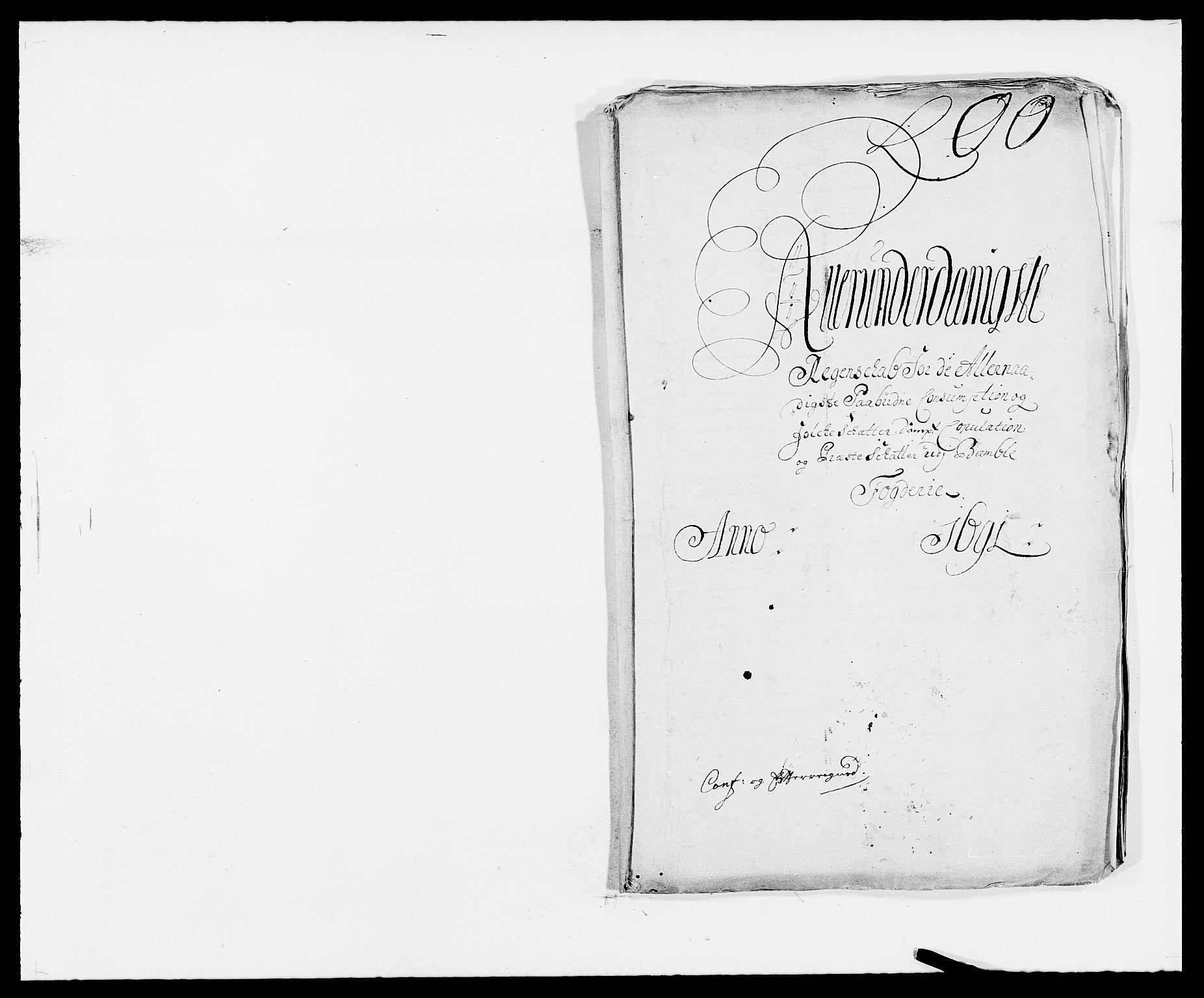 RA, Rentekammeret inntil 1814, Reviderte regnskaper, Fogderegnskap, R34/L2051: Fogderegnskap Bamble, 1688-1691, s. 248