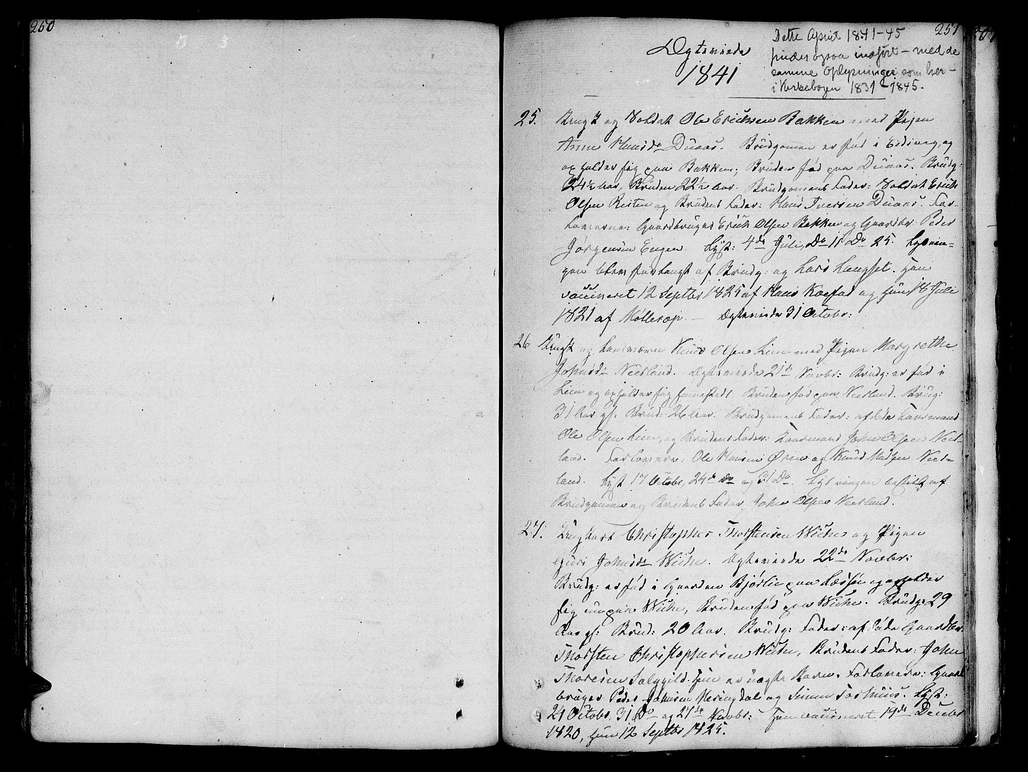SAT, Ministerialprotokoller, klokkerbøker og fødselsregistre - Møre og Romsdal, 551/L0622: Ministerialbok nr. 551A02, 1804-1845, s. 250-251