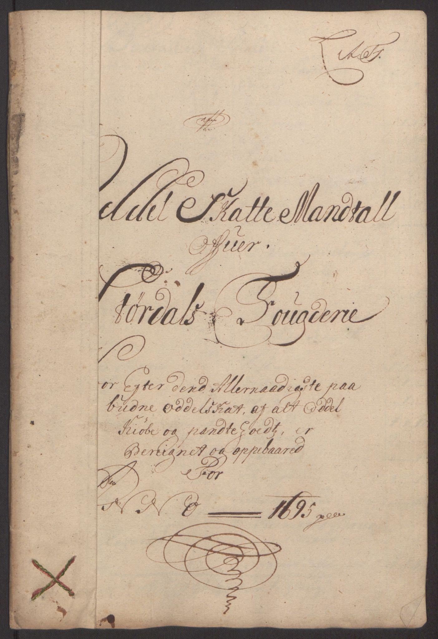 RA, Rentekammeret inntil 1814, Reviderte regnskaper, Fogderegnskap, R62/L4187: Fogderegnskap Stjørdal og Verdal, 1695, s. 95