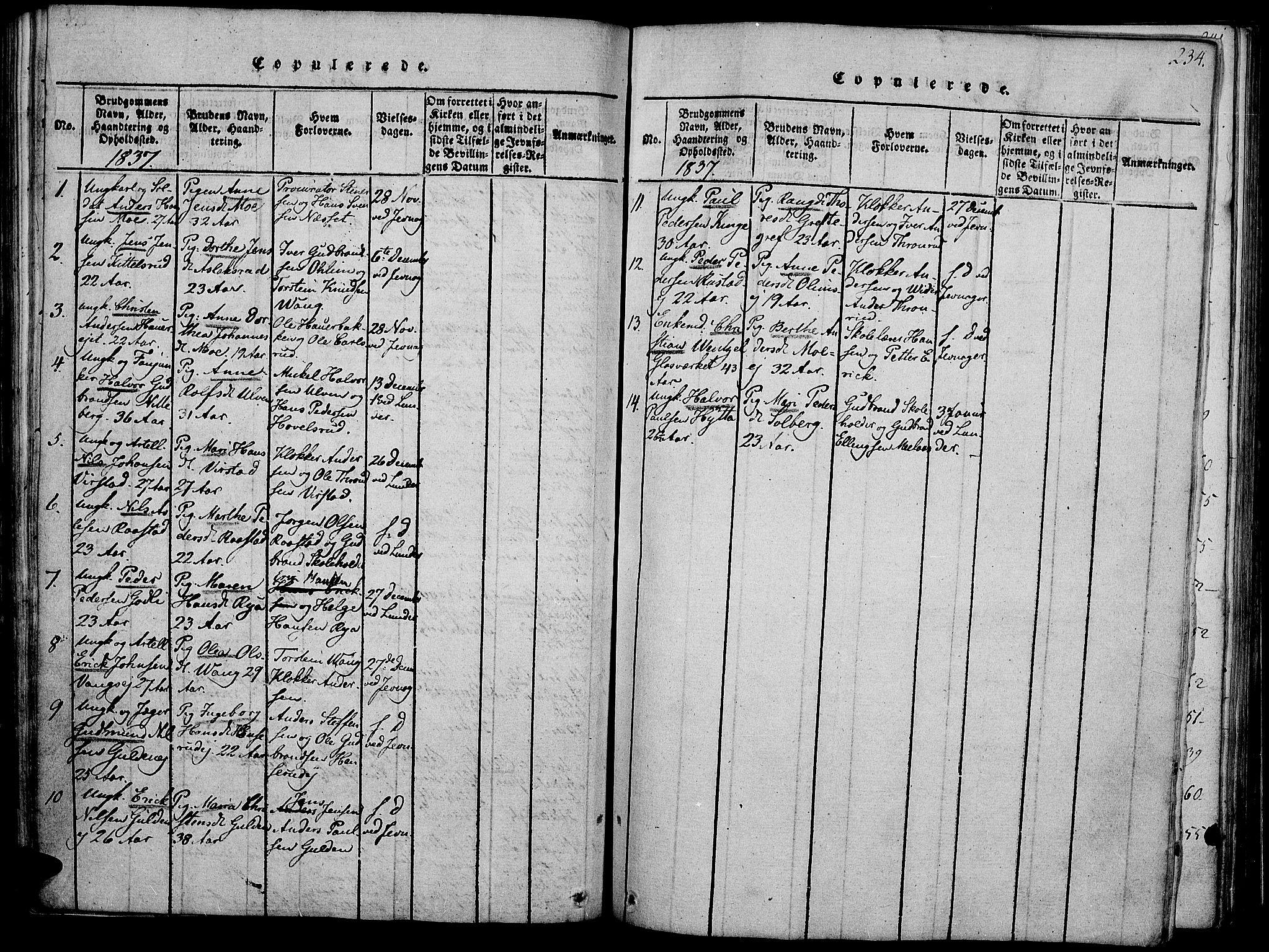 SAH, Jevnaker prestekontor, Ministerialbok nr. 5, 1815-1837, s. 234