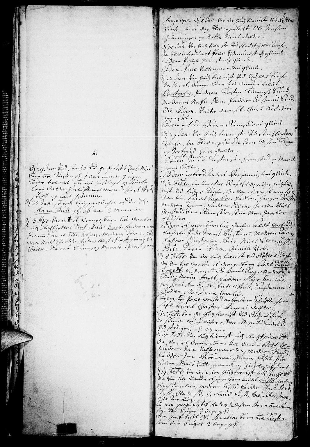 SAT, Ministerialprotokoller, klokkerbøker og fødselsregistre - Sør-Trøndelag, 646/L0603: Ministerialbok nr. 646A01, 1700-1734, s. 7