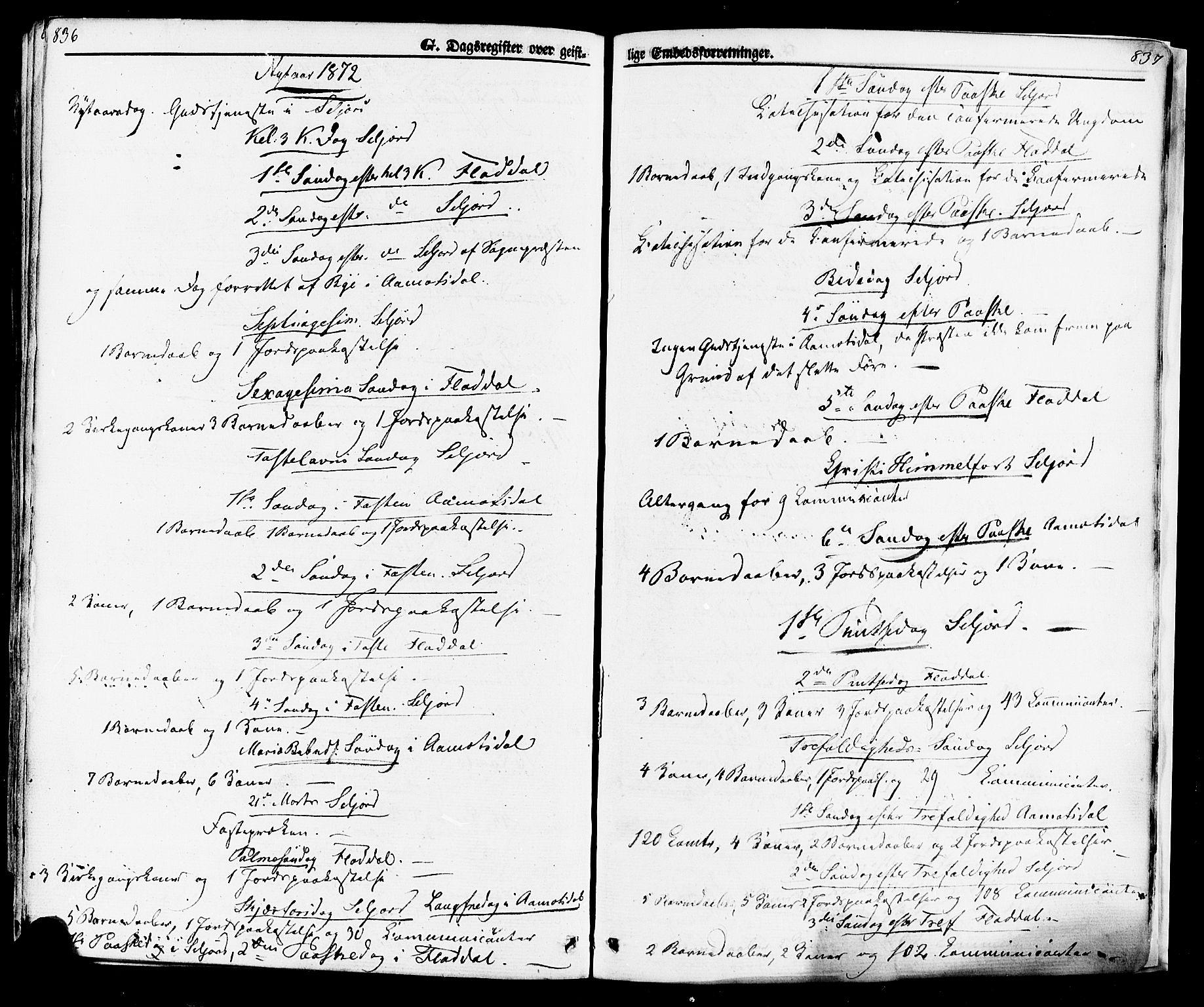 SAKO, Seljord kirkebøker, F/Fa/L0013: Ministerialbok nr. I 13, 1866-1876, s. 836-837