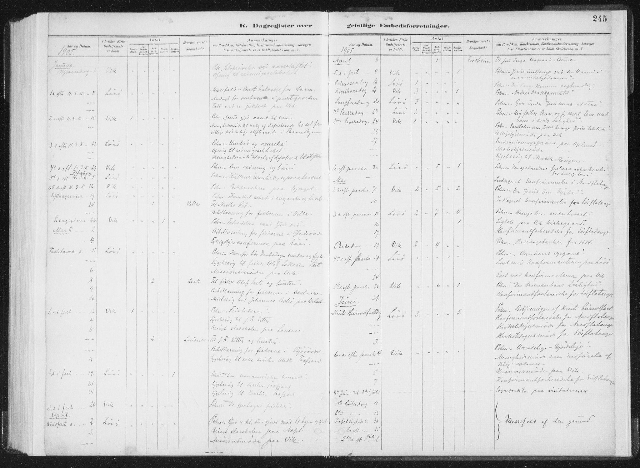 SAT, Ministerialprotokoller, klokkerbøker og fødselsregistre - Nord-Trøndelag, 771/L0597: Ministerialbok nr. 771A04, 1885-1910, s. 245