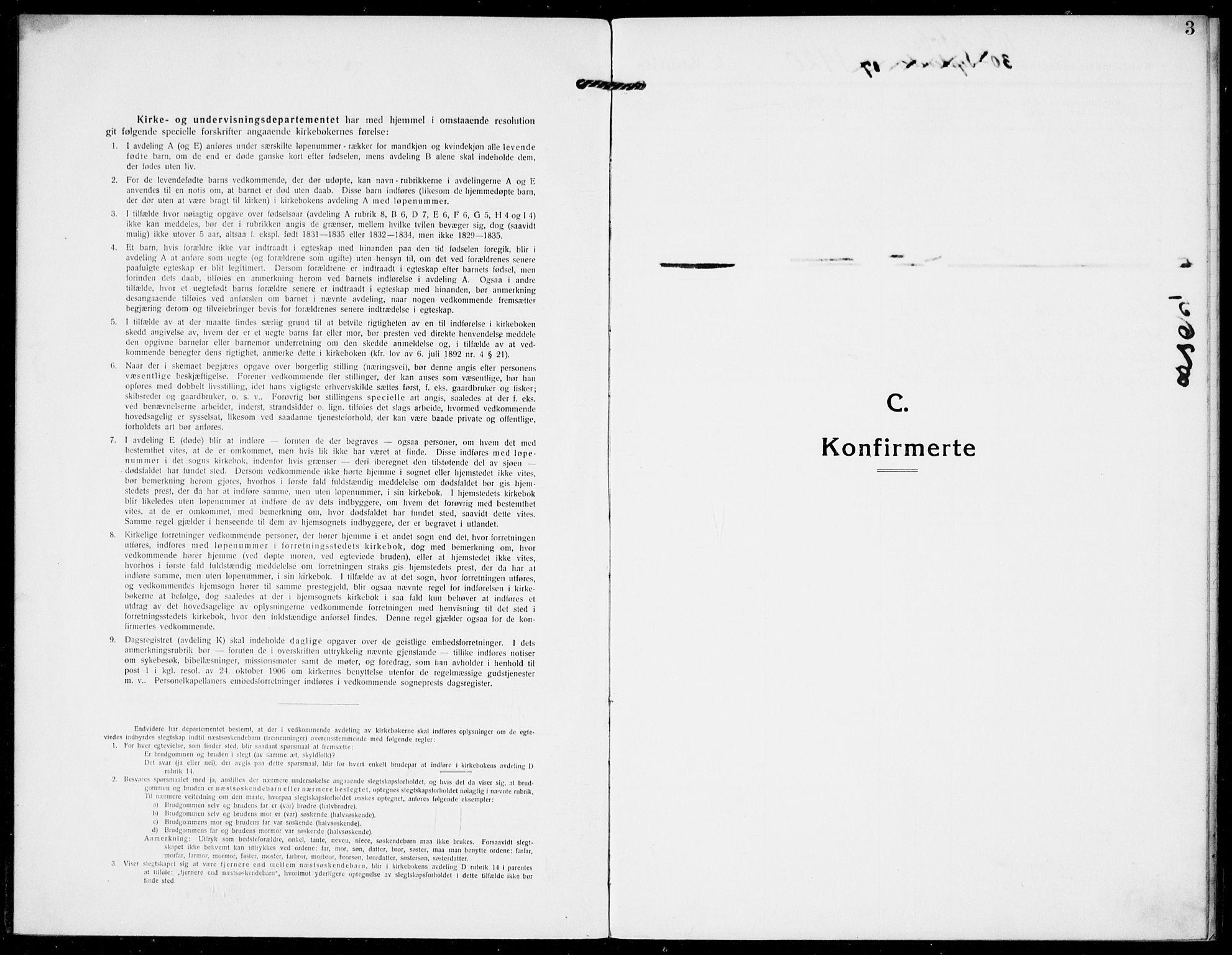 SAKO, Hjartdal kirkebøker, F/Fb/L0003: Ministerialbok nr. II 3, 1920-1932, s. 3