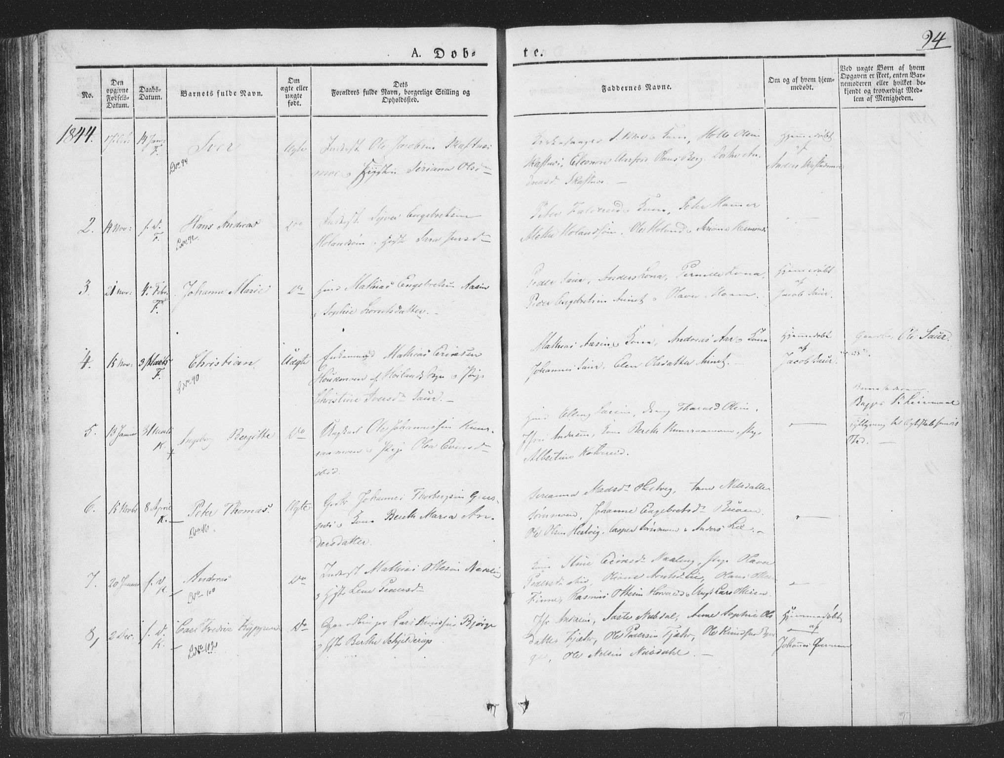 SAT, Ministerialprotokoller, klokkerbøker og fødselsregistre - Nord-Trøndelag, 780/L0639: Ministerialbok nr. 780A04, 1830-1844, s. 94