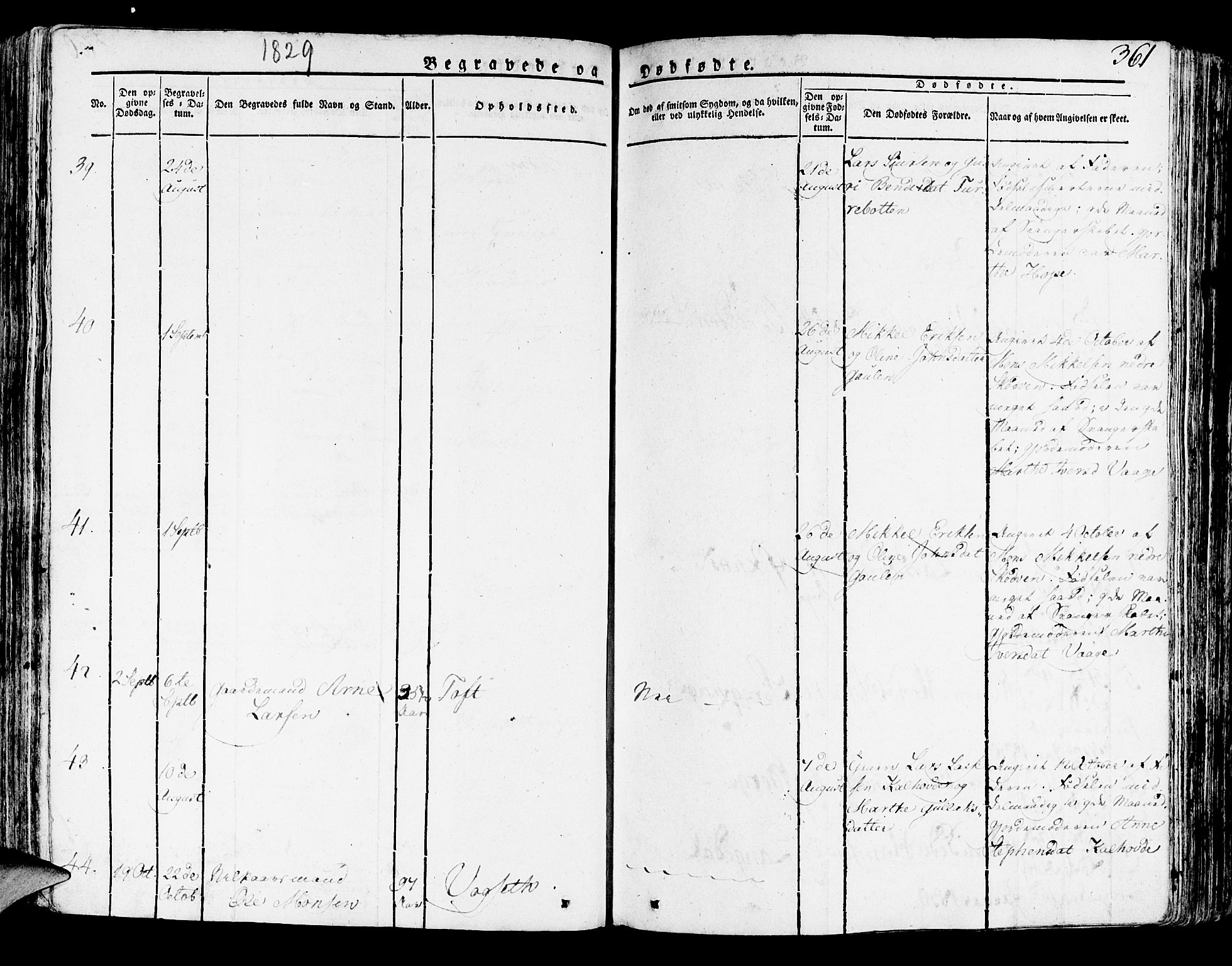 SAB, Lindås Sokneprestembete, H/Haa: Ministerialbok nr. A 8, 1823-1836, s. 361