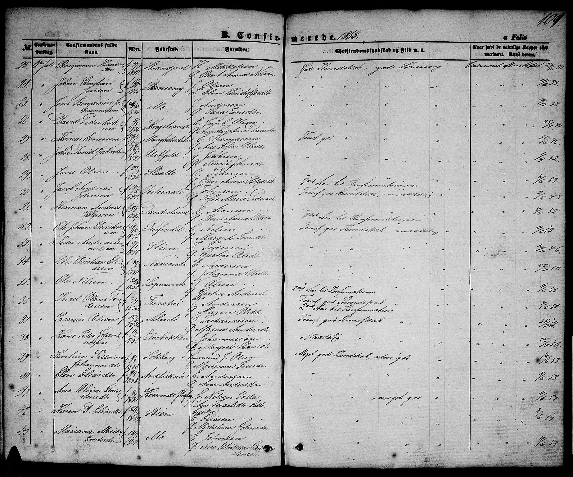 SAT, Ministerialprotokoller, klokkerbøker og fødselsregistre - Nordland, 827/L0414: Klokkerbok nr. 827C03, 1853-1865, s. 101