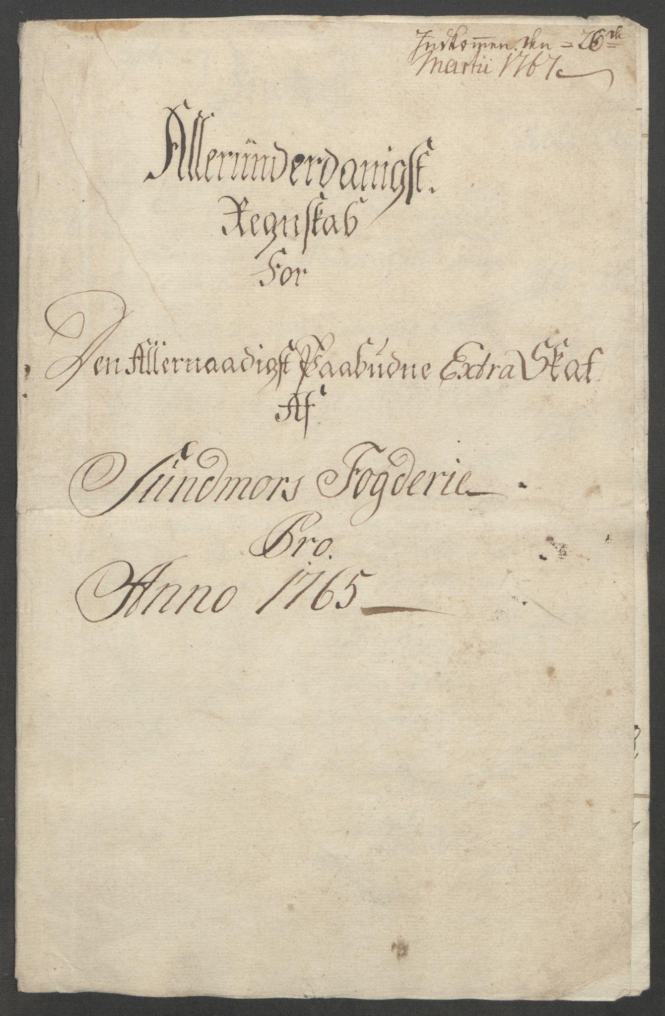 RA, Rentekammeret inntil 1814, Reviderte regnskaper, Fogderegnskap, R54/L3645: Ekstraskatten Sunnmøre, 1762-1772, s. 58