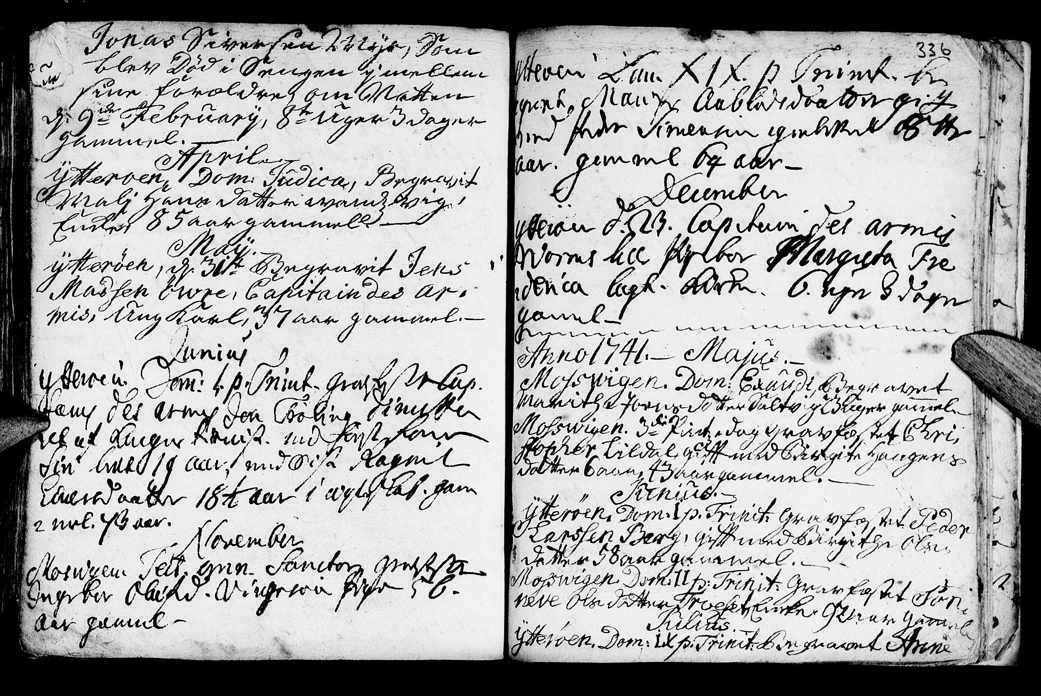 SAT, Ministerialprotokoller, klokkerbøker og fødselsregistre - Nord-Trøndelag, 722/L0215: Ministerialbok nr. 722A02, 1718-1755, s. 336