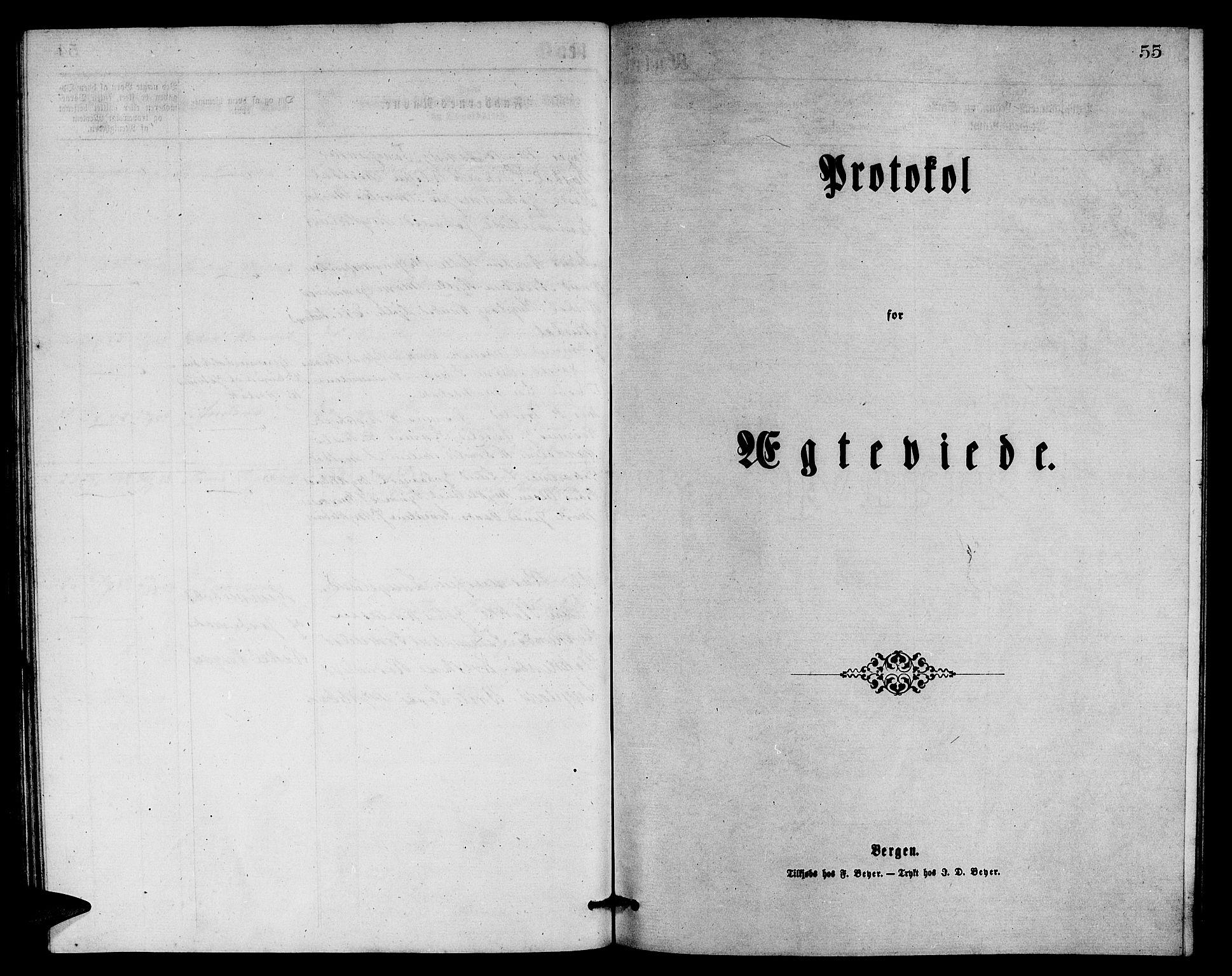 SAB, Eid Sokneprestembete, H/Hab: Klokkerbok nr. B 1, 1877-1882, s. 55