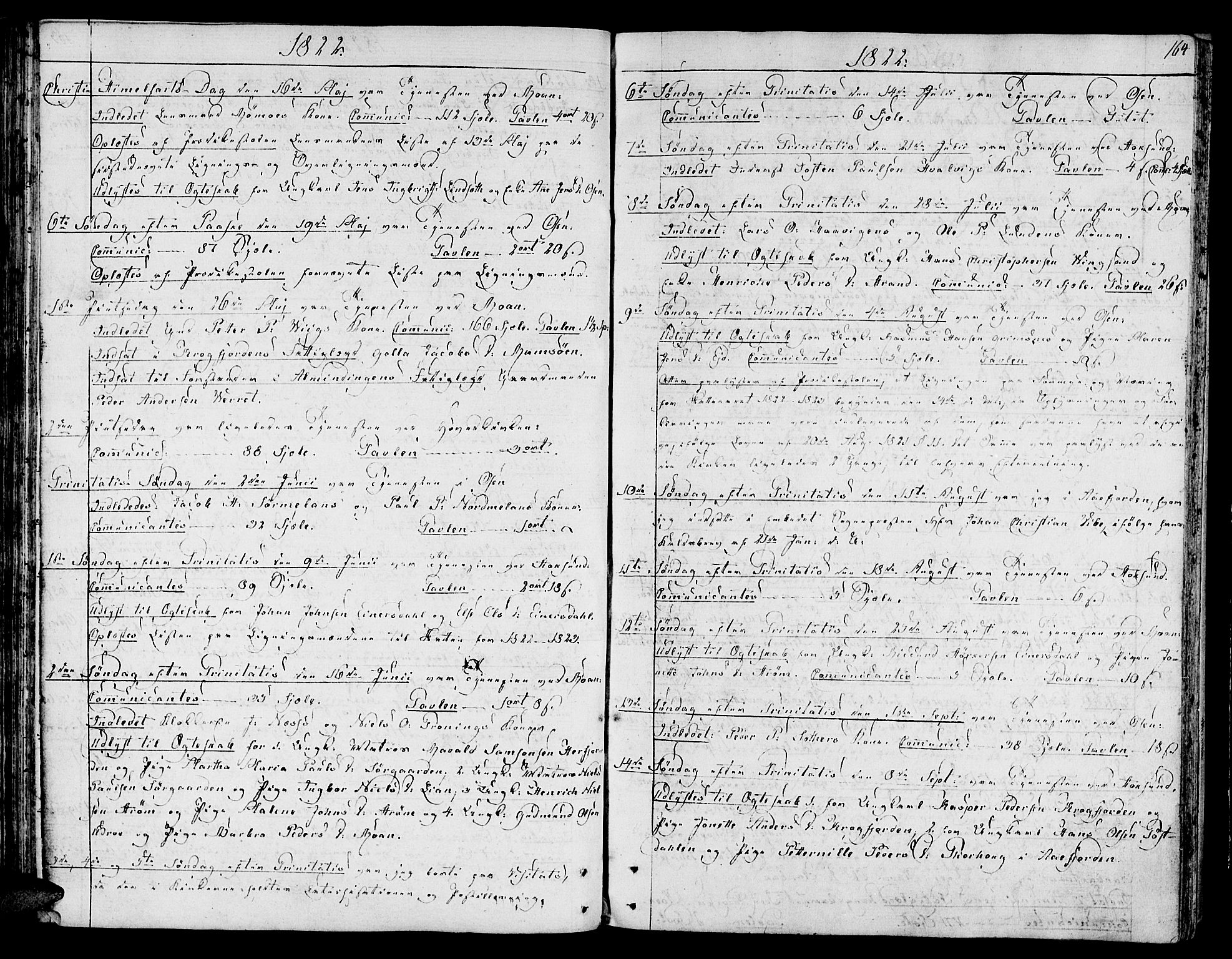 SAT, Ministerialprotokoller, klokkerbøker og fødselsregistre - Sør-Trøndelag, 657/L0701: Ministerialbok nr. 657A02, 1802-1831, s. 164
