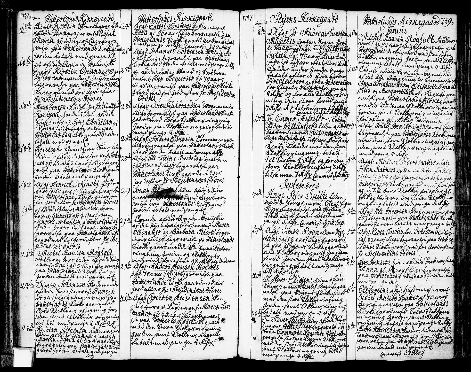 SAO, Oslo domkirke Kirkebøker, F/Fa/L0003: Ministerialbok nr. 3, 1731-1743, s. 249