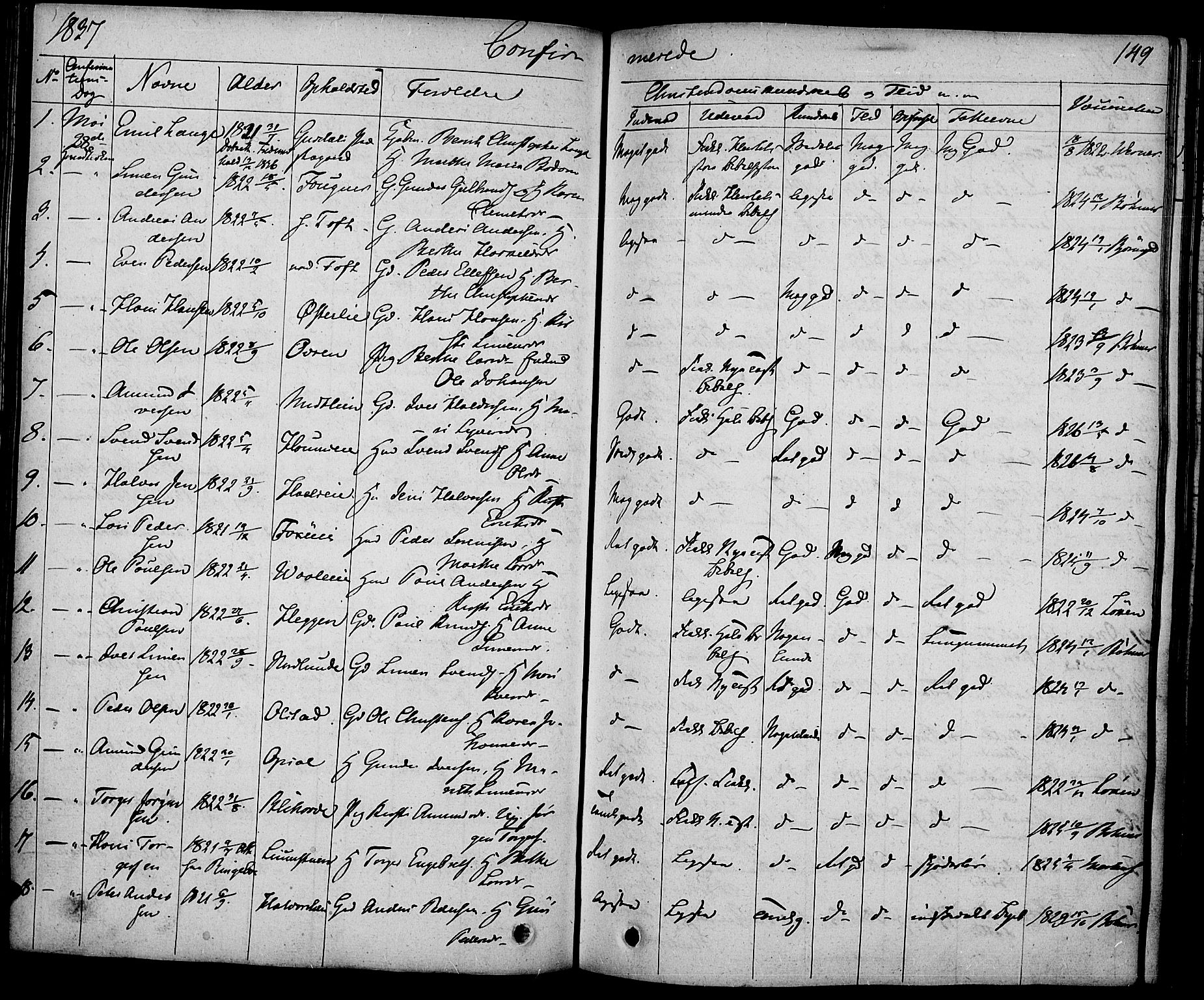 SAH, Gausdal prestekontor, Ministerialbok nr. 6, 1830-1839, s. 149