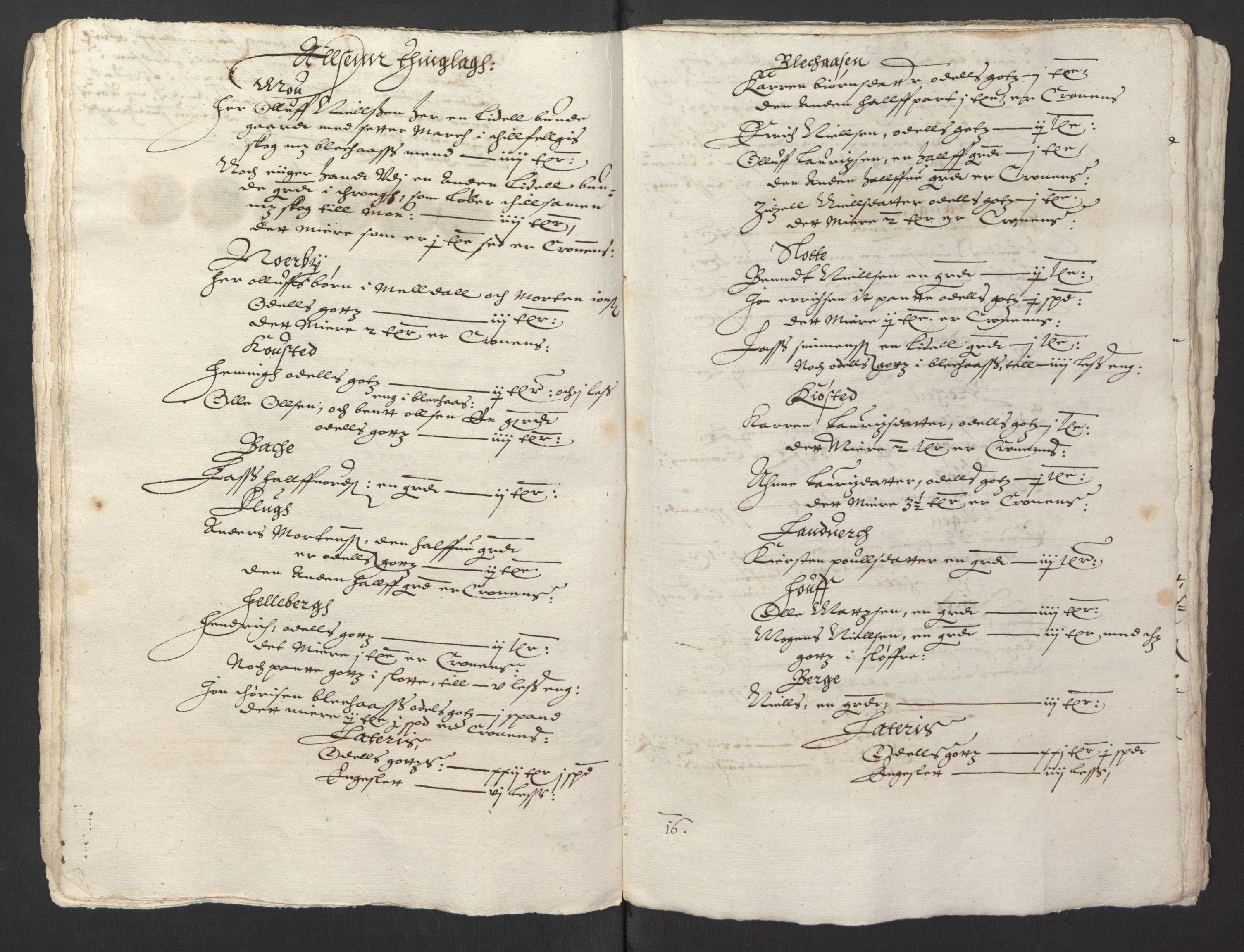 RA, Stattholderembetet 1572-1771, Ek/L0013: Jordebøker til utlikning av rosstjeneste 1624-1626:, 1624-1625, s. 111