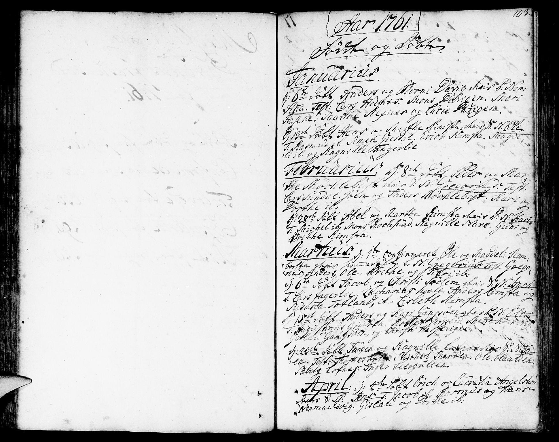 SAB, Davik Sokneprestembete, Ministerialbok nr. A 2, 1742-1816, s. 103