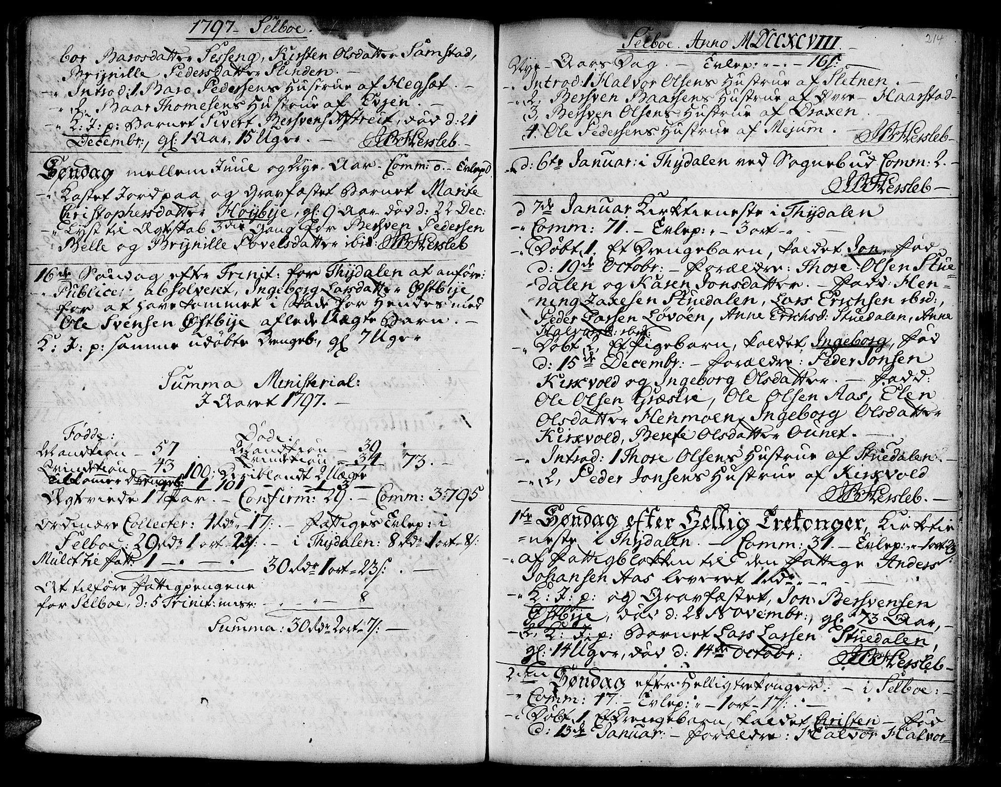 SAT, Ministerialprotokoller, klokkerbøker og fødselsregistre - Sør-Trøndelag, 695/L1138: Ministerialbok nr. 695A02 /1, 1757-1801, s. 214