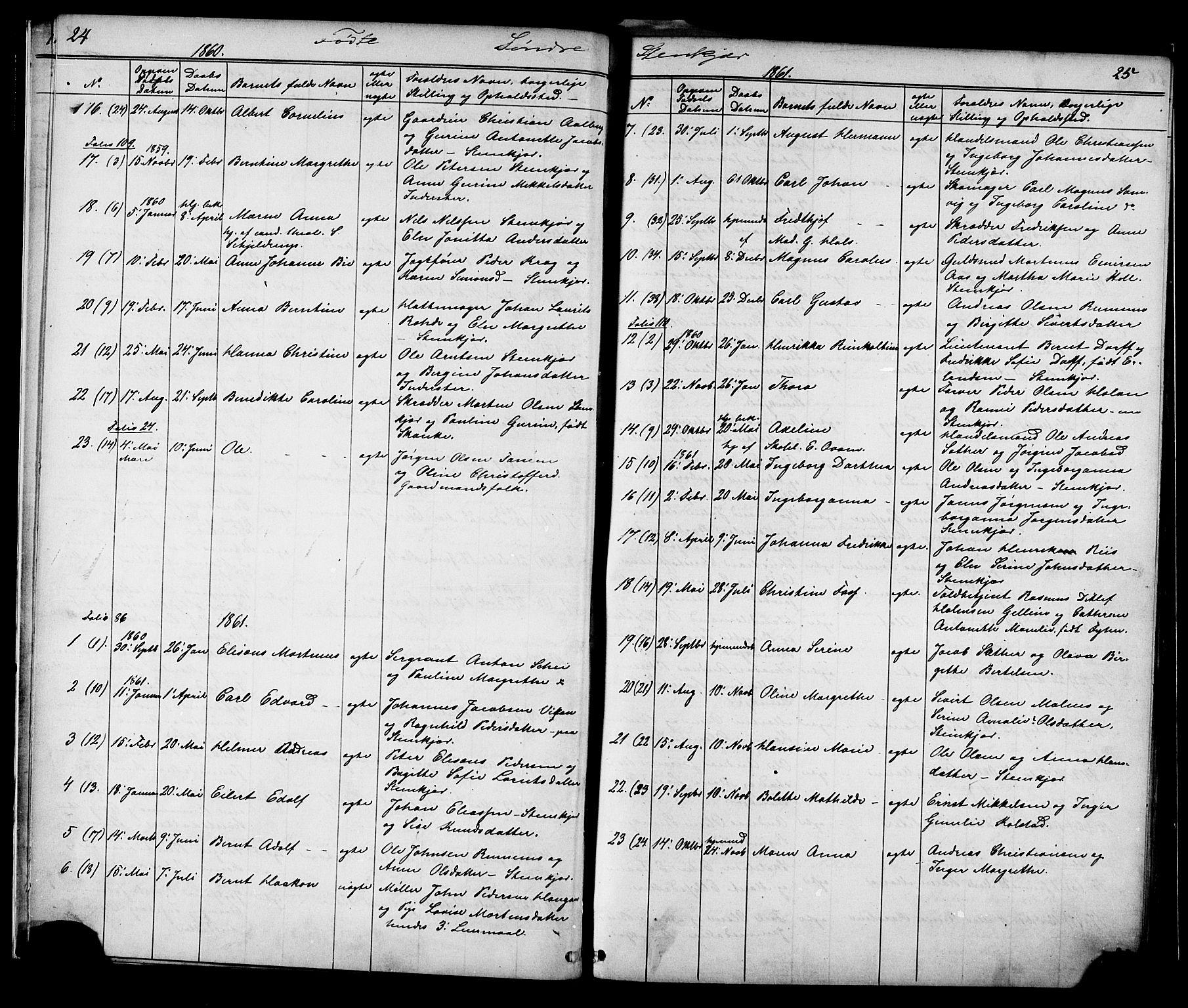 SAT, Ministerialprotokoller, klokkerbøker og fødselsregistre - Nord-Trøndelag, 739/L0367: Ministerialbok nr. 739A01 /1, 1838-1868, s. 24-25