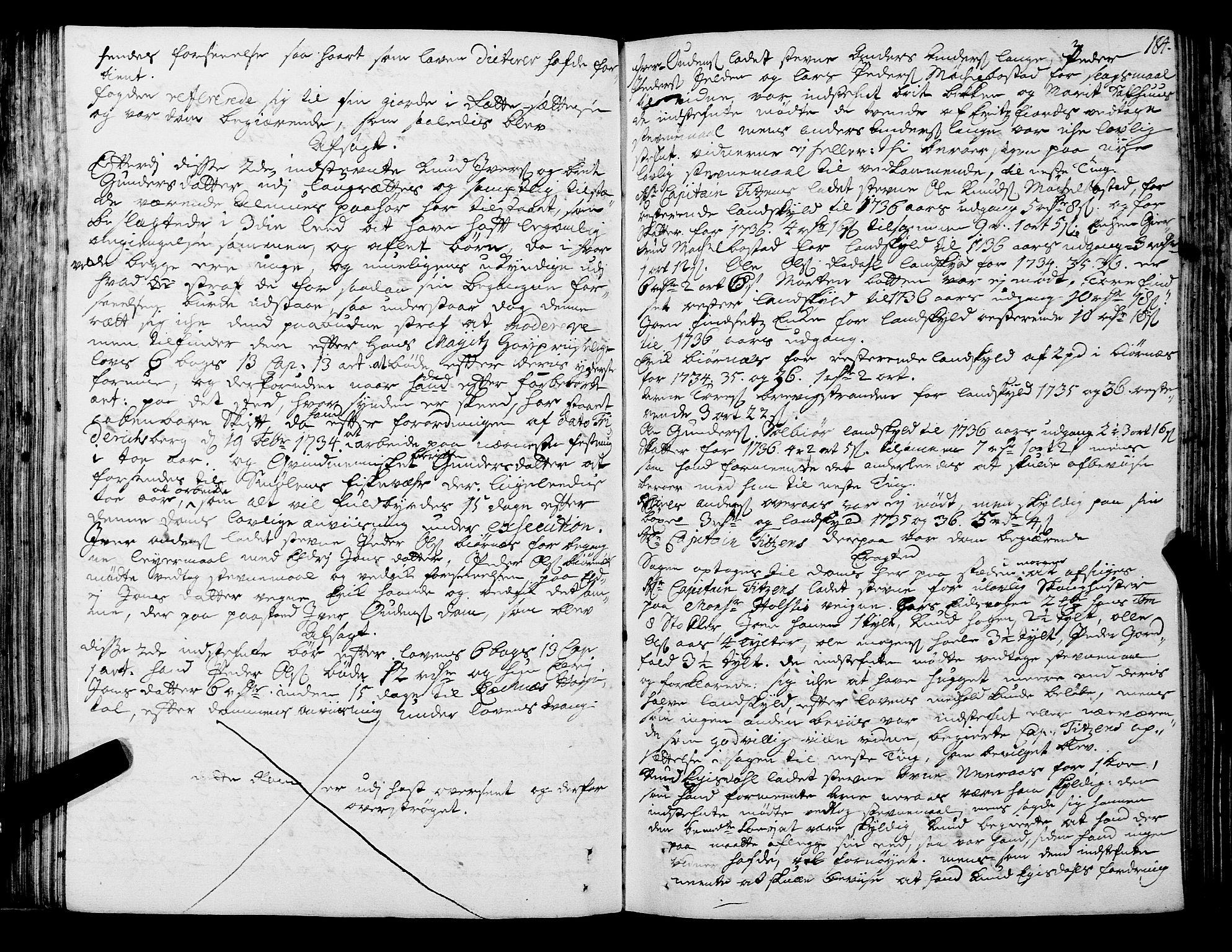 SAT, Romsdal sorenskriveri, 1/1A/L0011: Tingbok, 1732-1740, s. 183b-184a