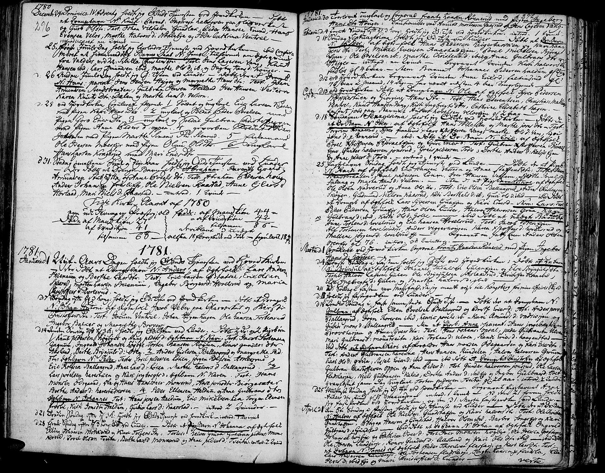 SAH, Jevnaker prestekontor, Ministerialbok nr. 3, 1752-1799, s. 296-297