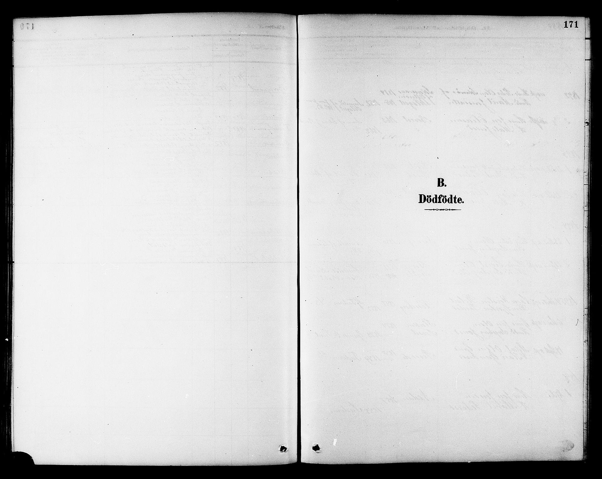 SAT, Ministerialprotokoller, klokkerbøker og fødselsregistre - Sør-Trøndelag, 695/L1157: Klokkerbok nr. 695C08, 1889-1913, s. 171