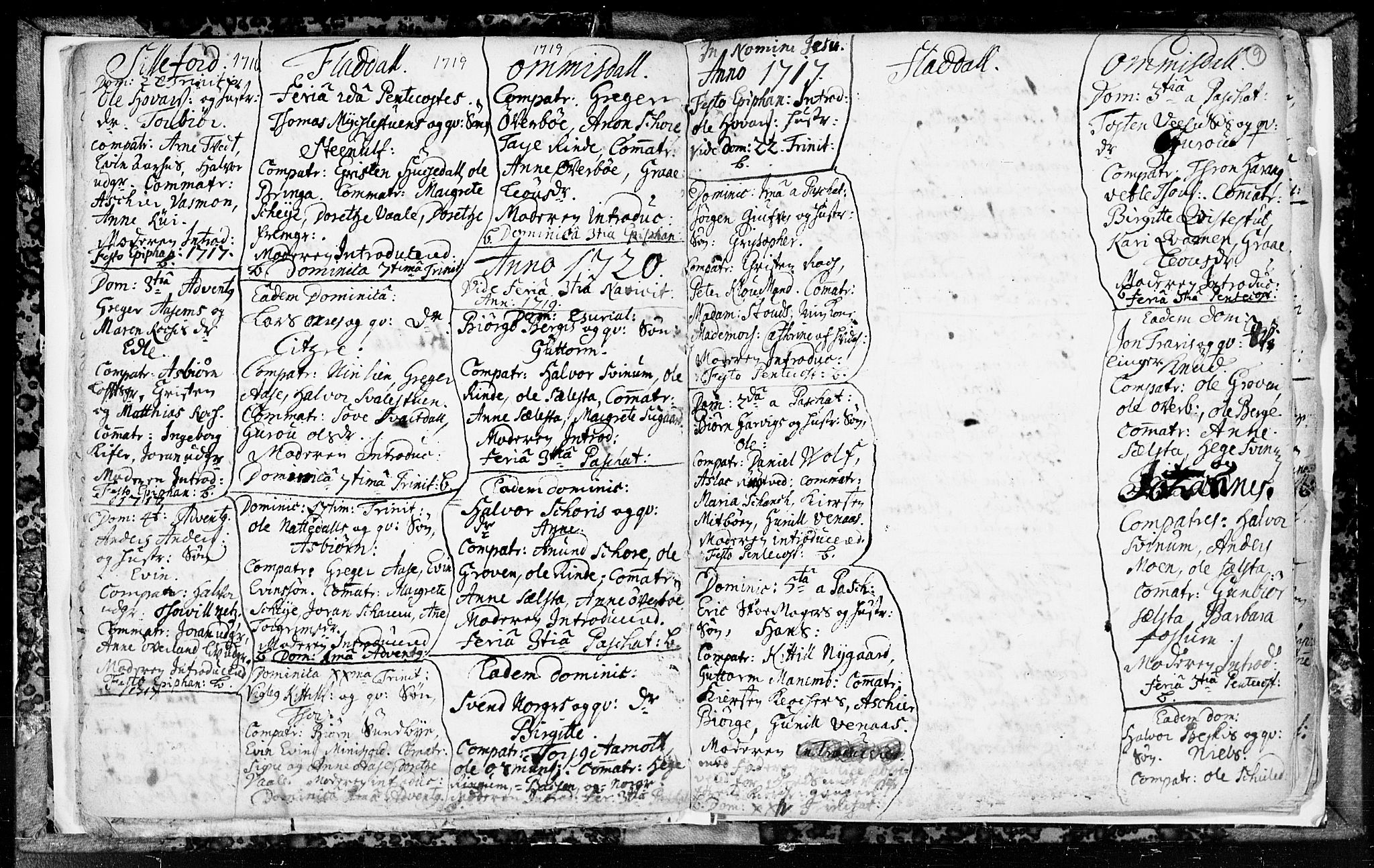 SAKO, Seljord kirkebøker, F/Fa/L0003: Ministerialbok nr. I 3, 1714-1725, s. 9