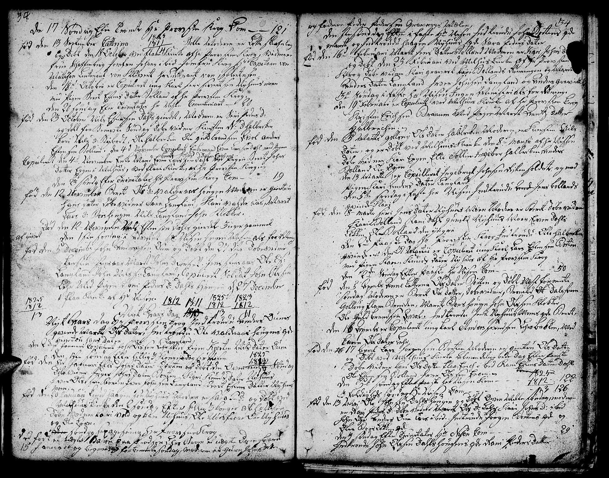 SAT, Ministerialprotokoller, klokkerbøker og fødselsregistre - Sør-Trøndelag, 693/L1120: Klokkerbok nr. 693C01, 1799-1816, s. 34a-34b