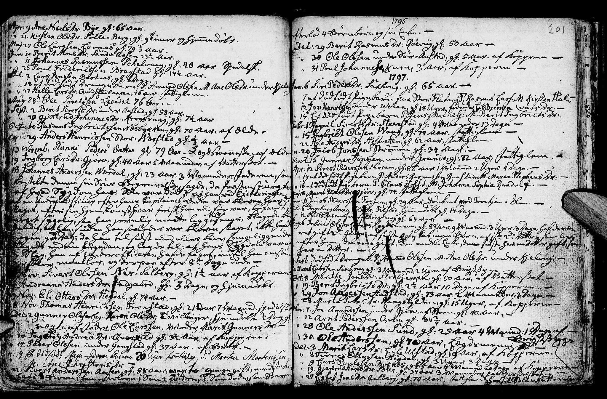 SAT, Ministerialprotokoller, klokkerbøker og fødselsregistre - Nord-Trøndelag, 730/L0273: Ministerialbok nr. 730A02, 1762-1802, s. 201