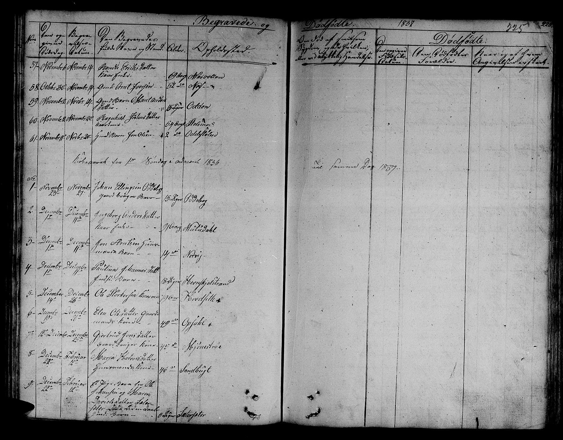 SAT, Ministerialprotokoller, klokkerbøker og fødselsregistre - Sør-Trøndelag, 630/L0492: Ministerialbok nr. 630A05, 1830-1840, s. 225