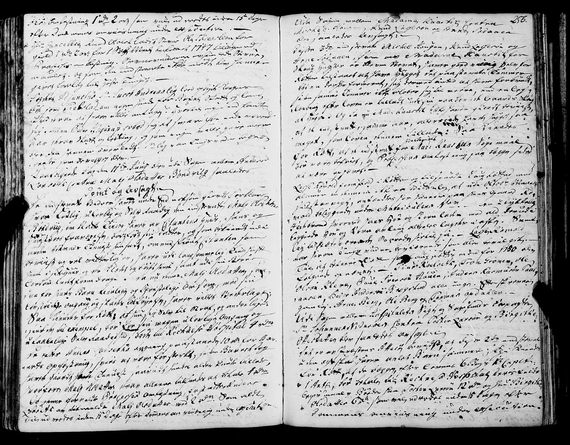 SAT, Romsdal sorenskriveri, 1/1A/L0012: Tingbok, 1740-1749, s. 256b-257a