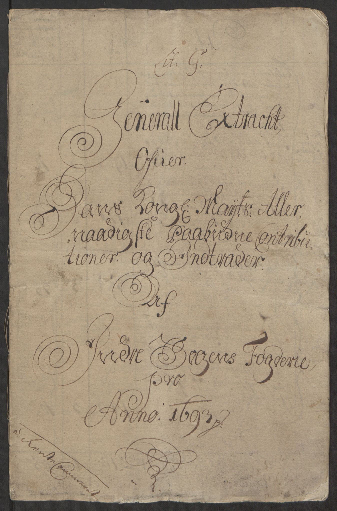 RA, Rentekammeret inntil 1814, Reviderte regnskaper, Fogderegnskap, R52/L3307: Fogderegnskap Sogn, 1693-1694, s. 3
