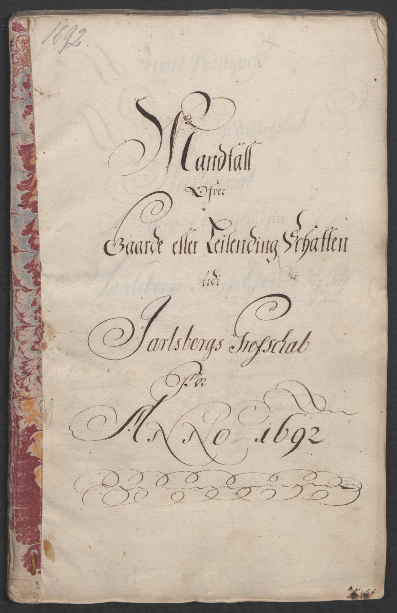 RA, Rentekammeret inntil 1814, Reviderte regnskaper, Fogderegnskap, R32/L1865: Fogderegnskap Jarlsberg grevskap, 1692, s. 18