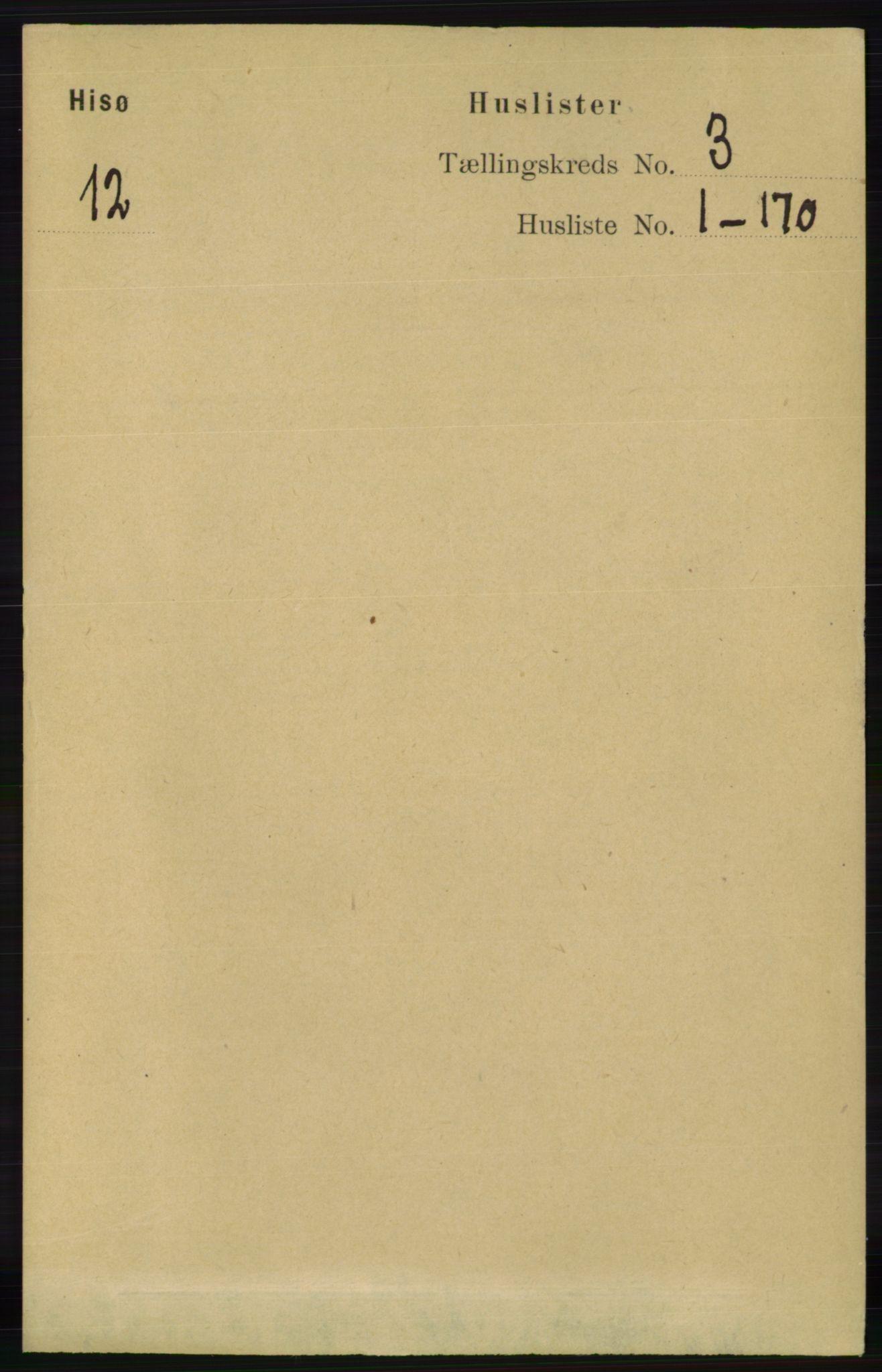 RA, Folketelling 1891 for 0922 Hisøy herred, 1891, s. 2077