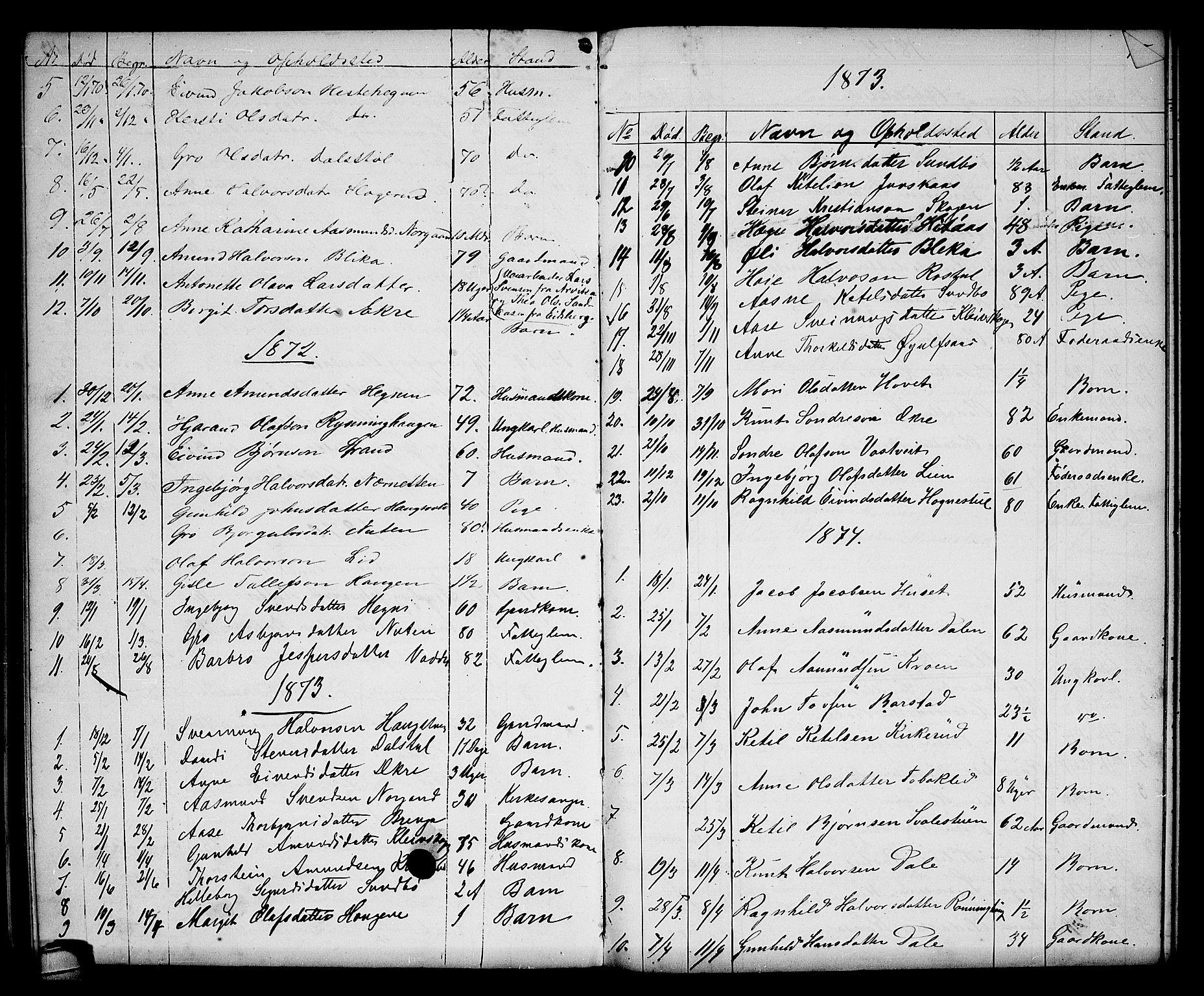 SAKO, Seljord kirkebøker, G/Gb/L0003: Klokkerbok nr. II 3, 1863-1884, s. 114