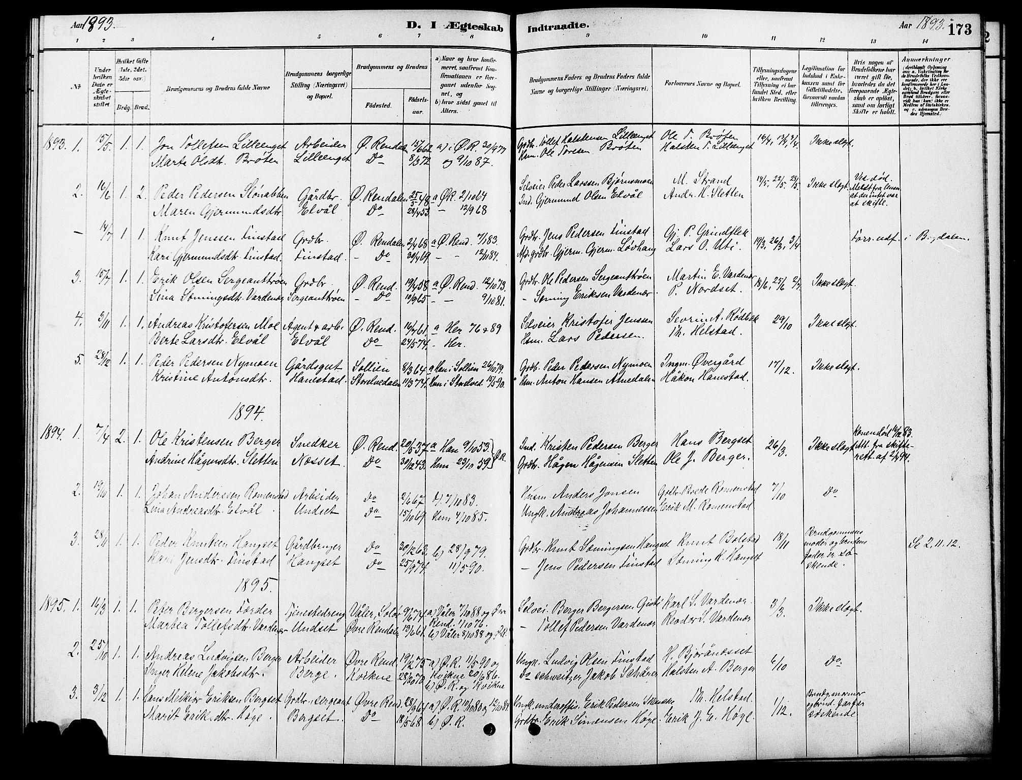 SAH, Rendalen prestekontor, H/Ha/Hab/L0003: Klokkerbok nr. 3, 1879-1904, s. 173