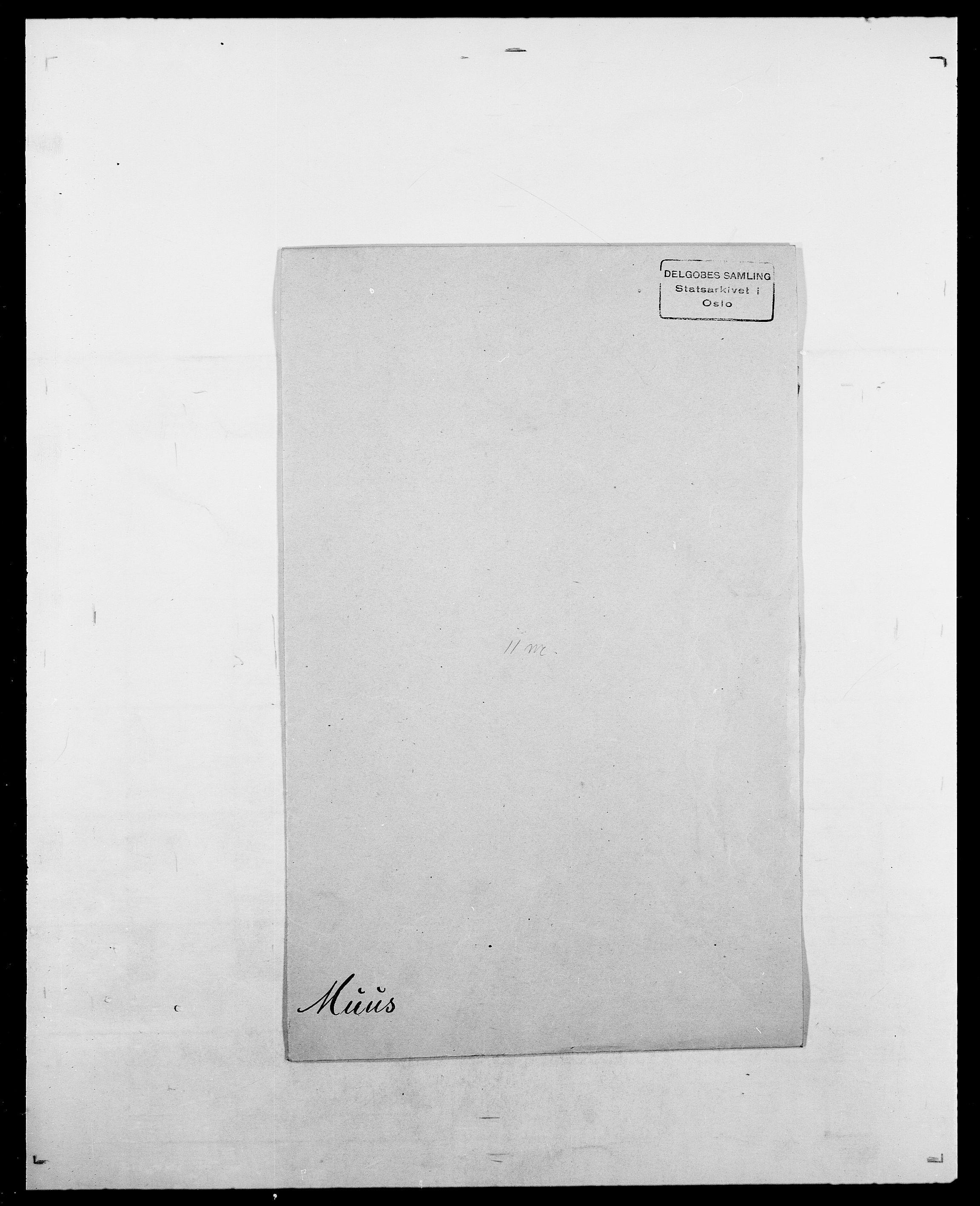 SAO, Delgobe, Charles Antoine - samling, D/Da/L0027: Morath - v. Møsting, s. 291