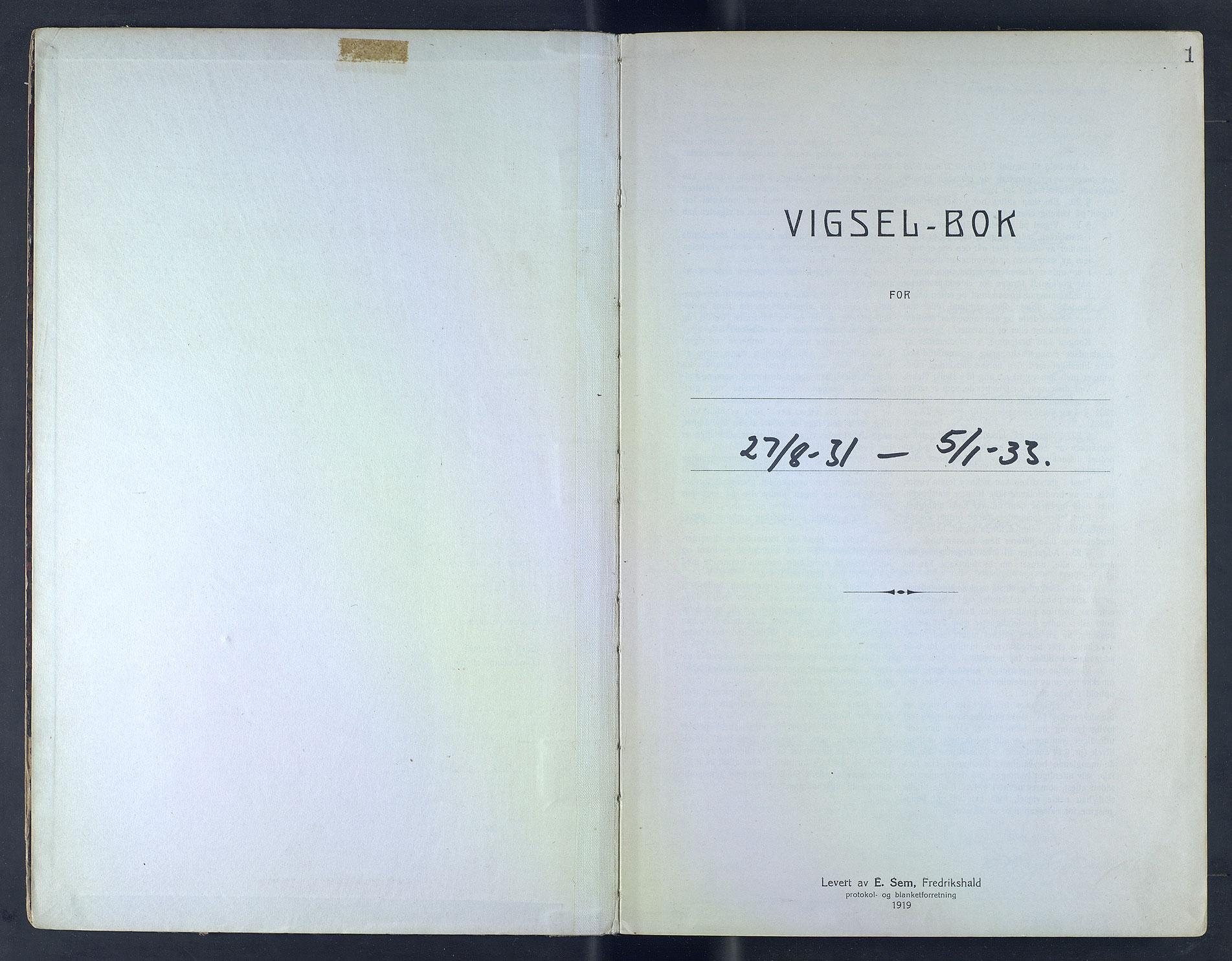 SAB, Bergen byfogd og byskriver*, 1931-1933, s. 1