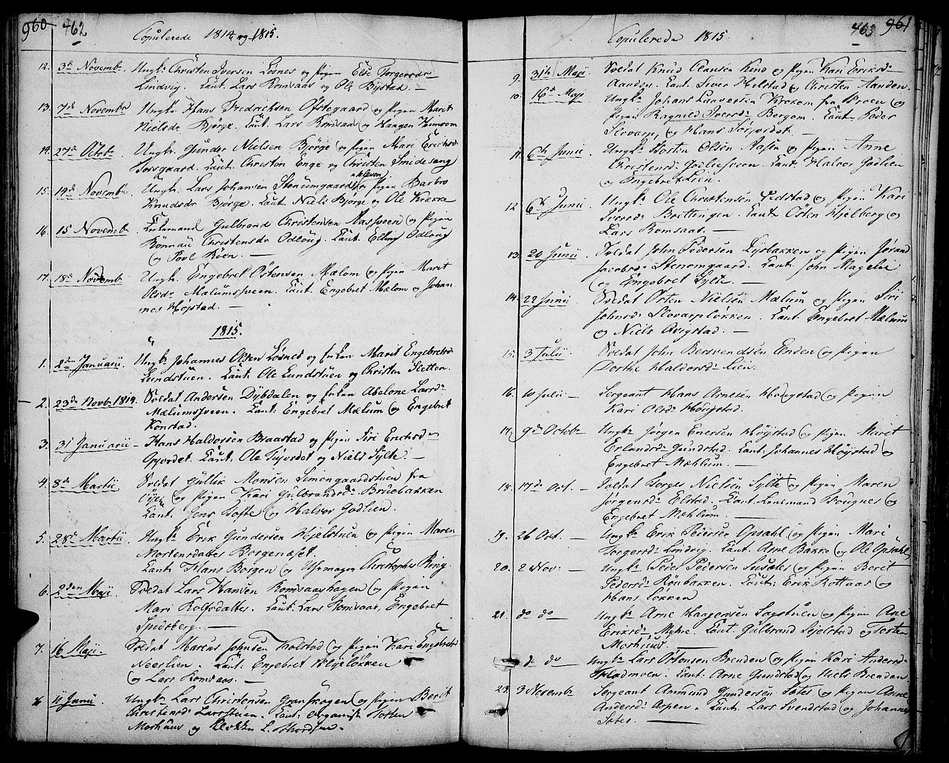 SAH, Ringebu prestekontor, Ministerialbok nr. 3, 1781-1820, s. 462-463