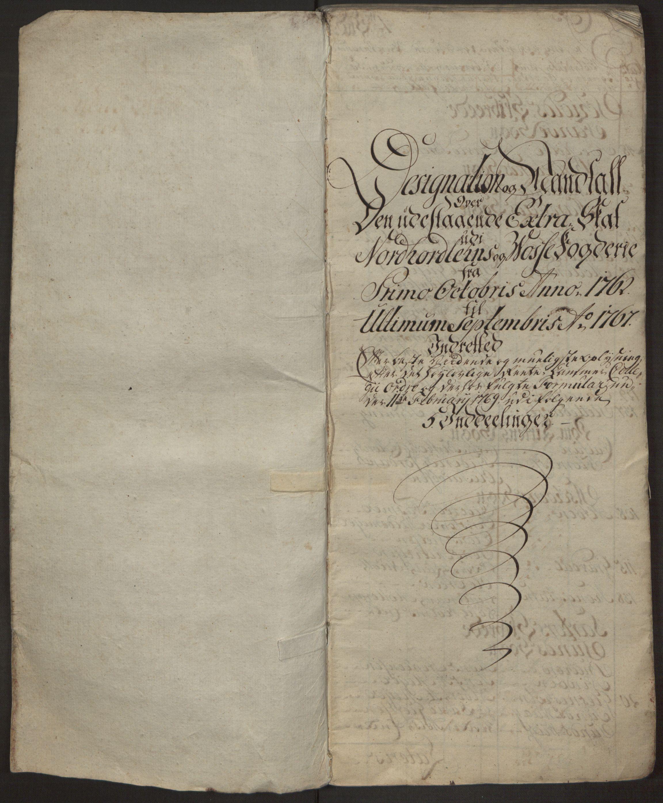 RA, Rentekammeret inntil 1814, Realistisk ordnet avdeling, Ol/L0017: [Gg 10]: Ekstraskatten, 23.09.1762. Nordhordland og Voss, 1762-1767, s. 2