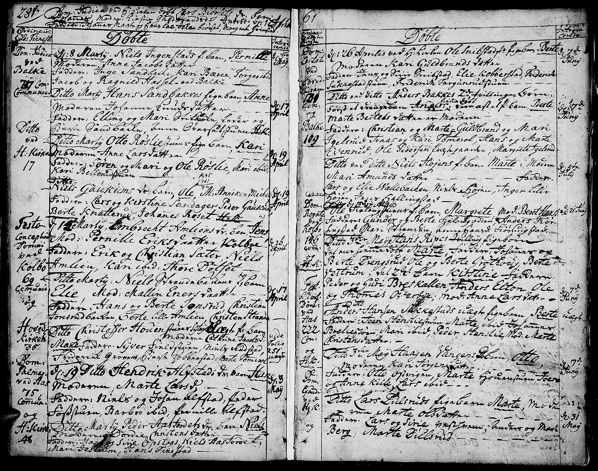 SAH, Toten prestekontor, Ministerialbok nr. 4, 1751-1761, s. 281