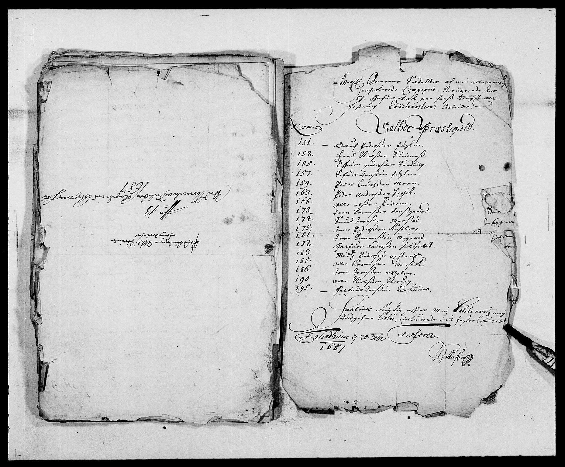RA, Rentekammeret inntil 1814, Reviderte regnskaper, Fogderegnskap, R61/L4101: Fogderegnskap Strinda og Selbu, 1687-1688, s. 153